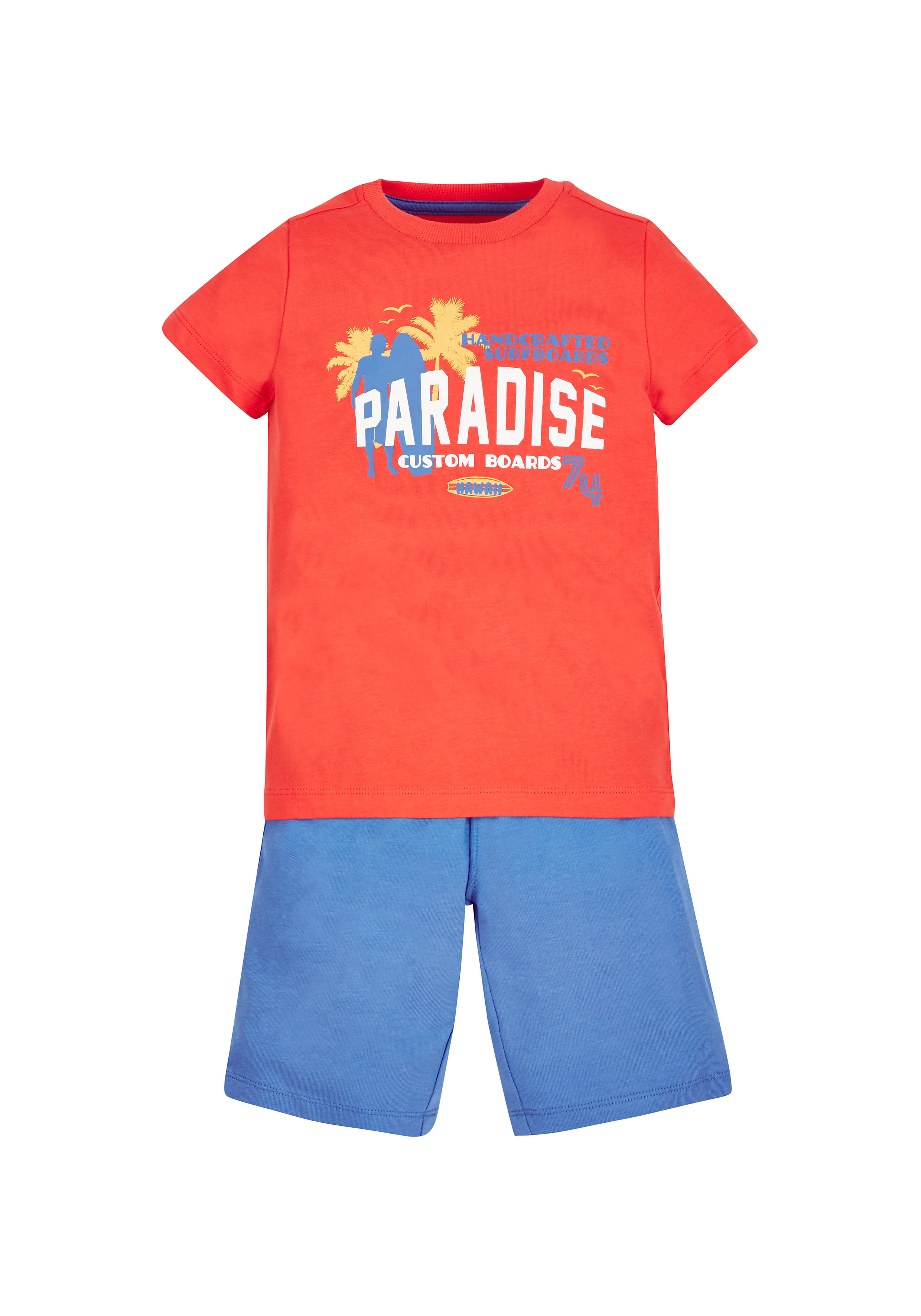 Mothercare | Boys Paradise T-Shirt And Shorts Set - Red