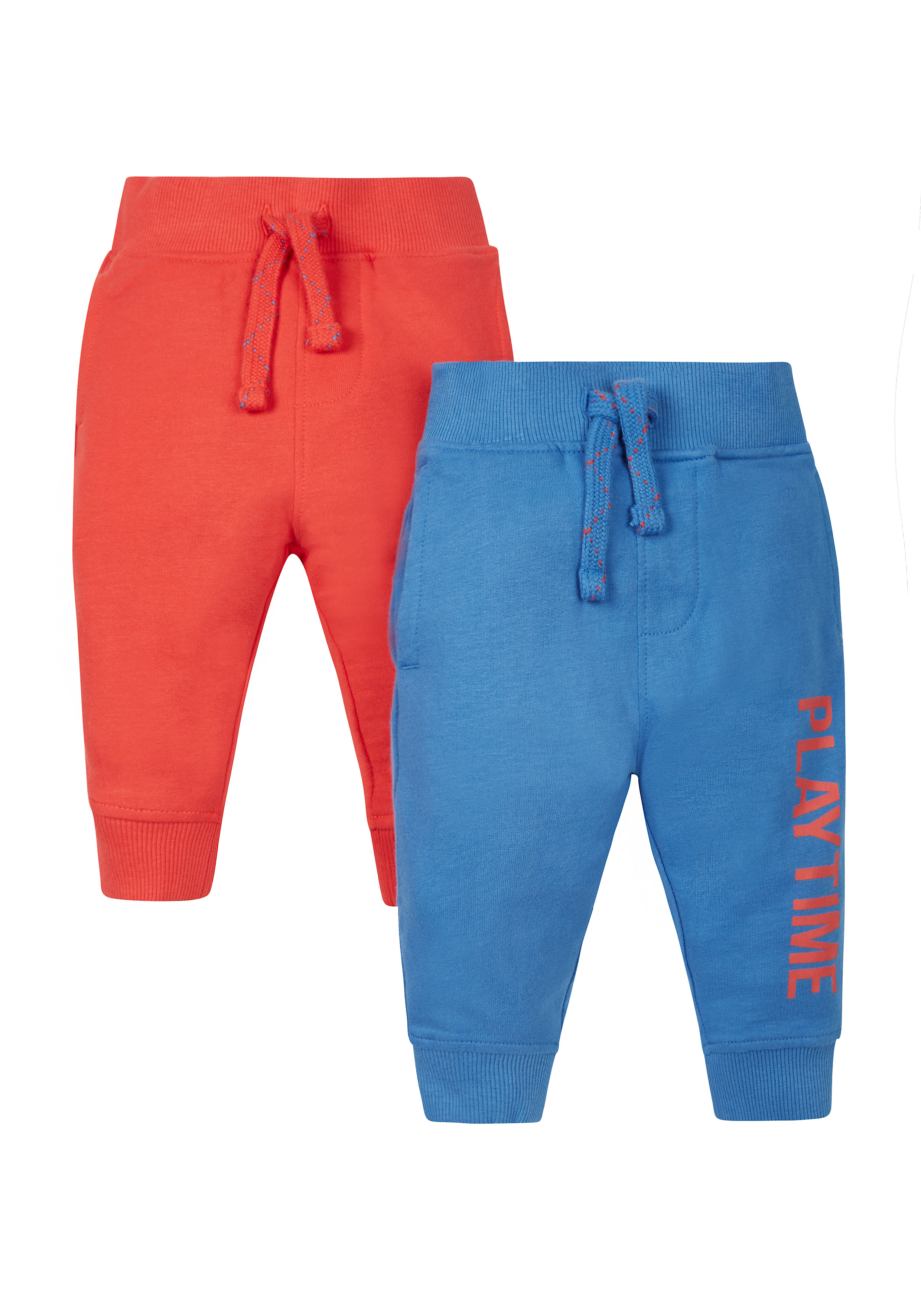 Mothercare | Boys Text Print Joggers - Red Blue