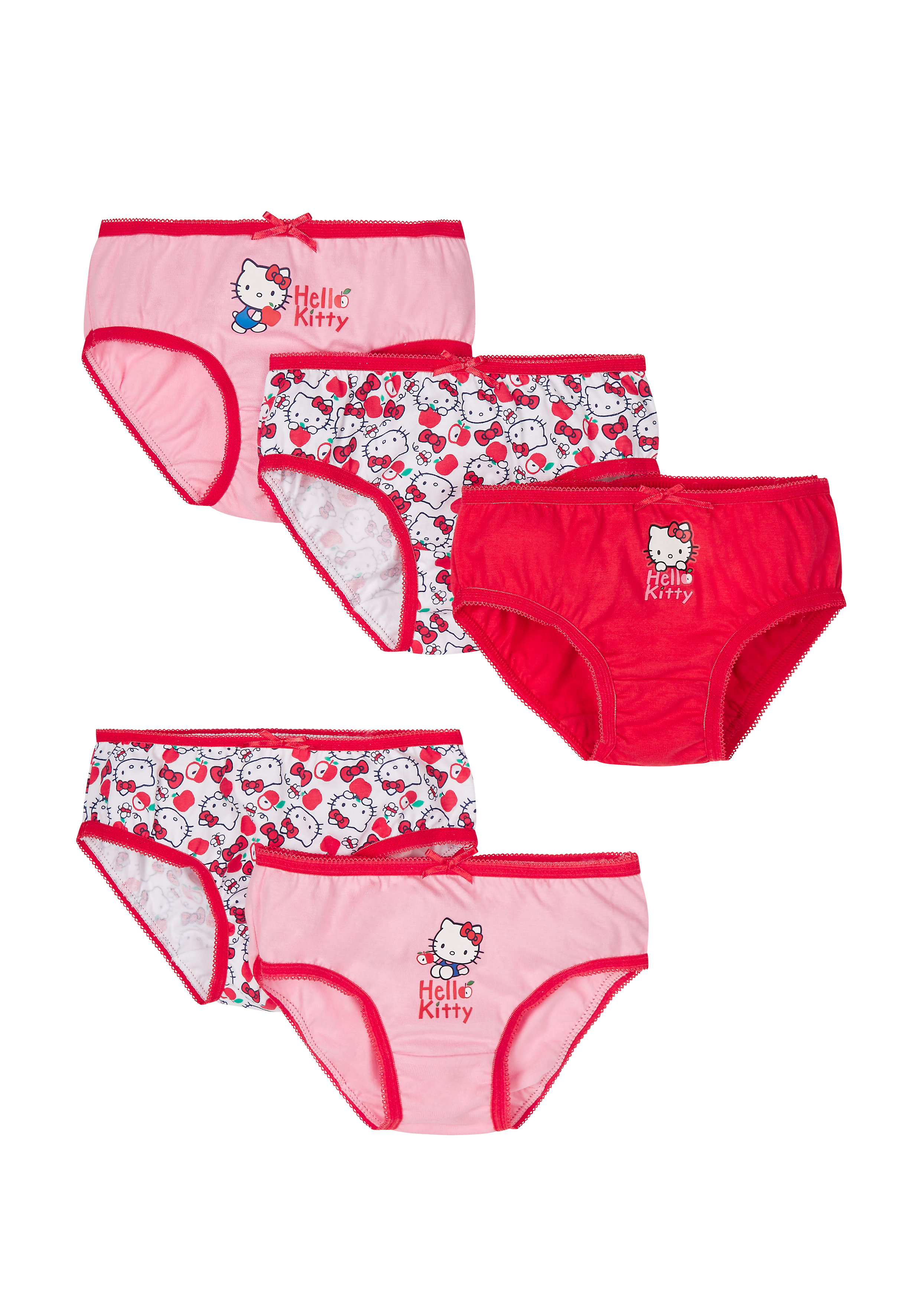Mothercare | Girls Hello Kitty Briefs - 5 Pack - Red