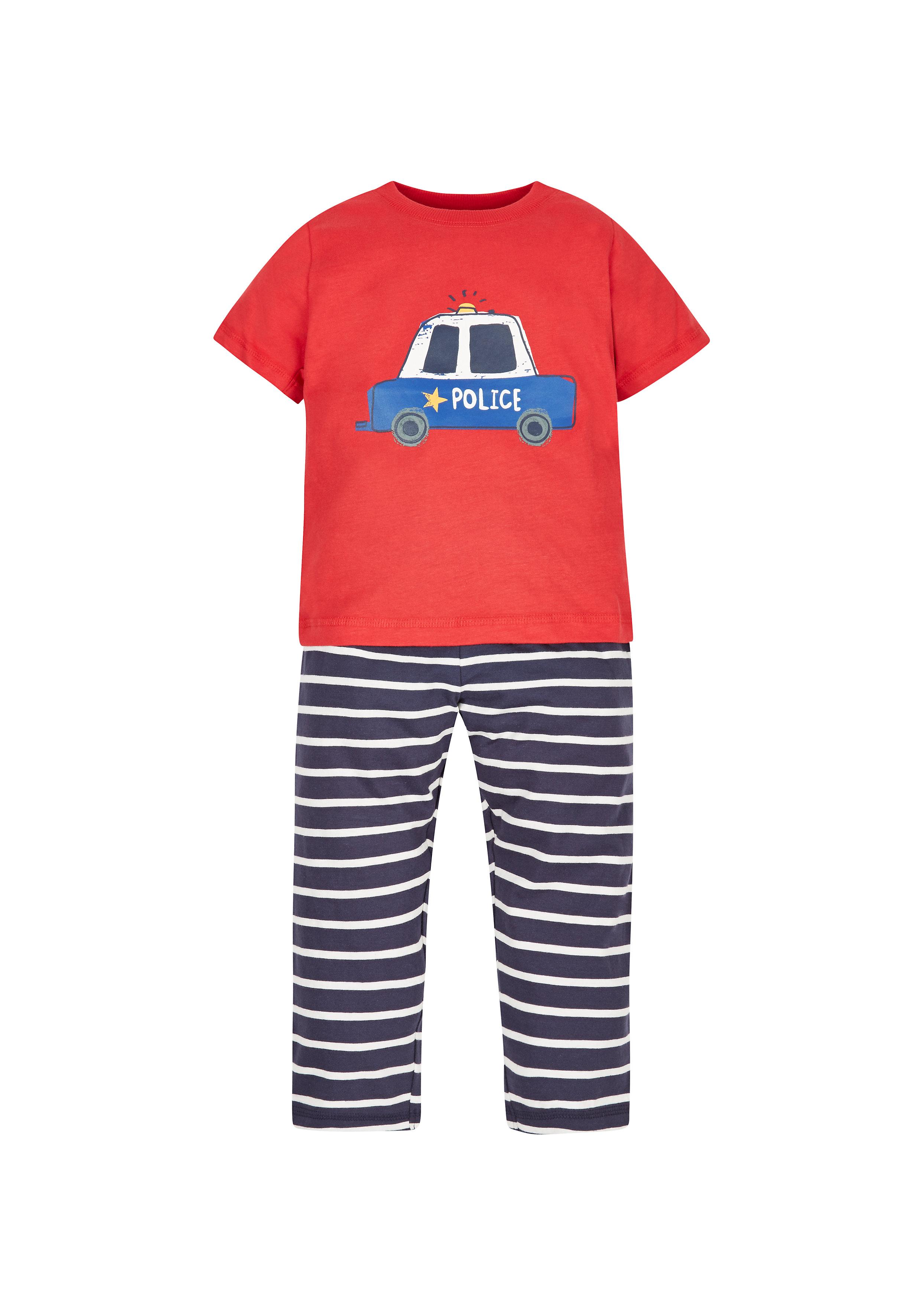 Mothercare   Boys Police Car Pyjamas  - Red