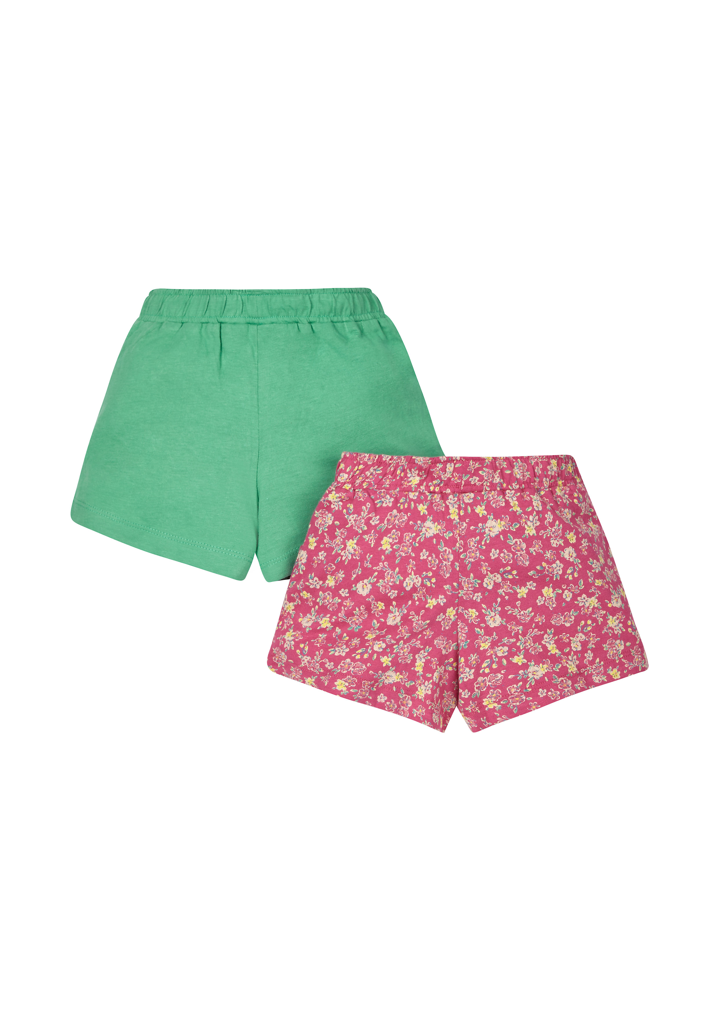 Mothercare | Girls Green And Floral Shorts - 2 Pack