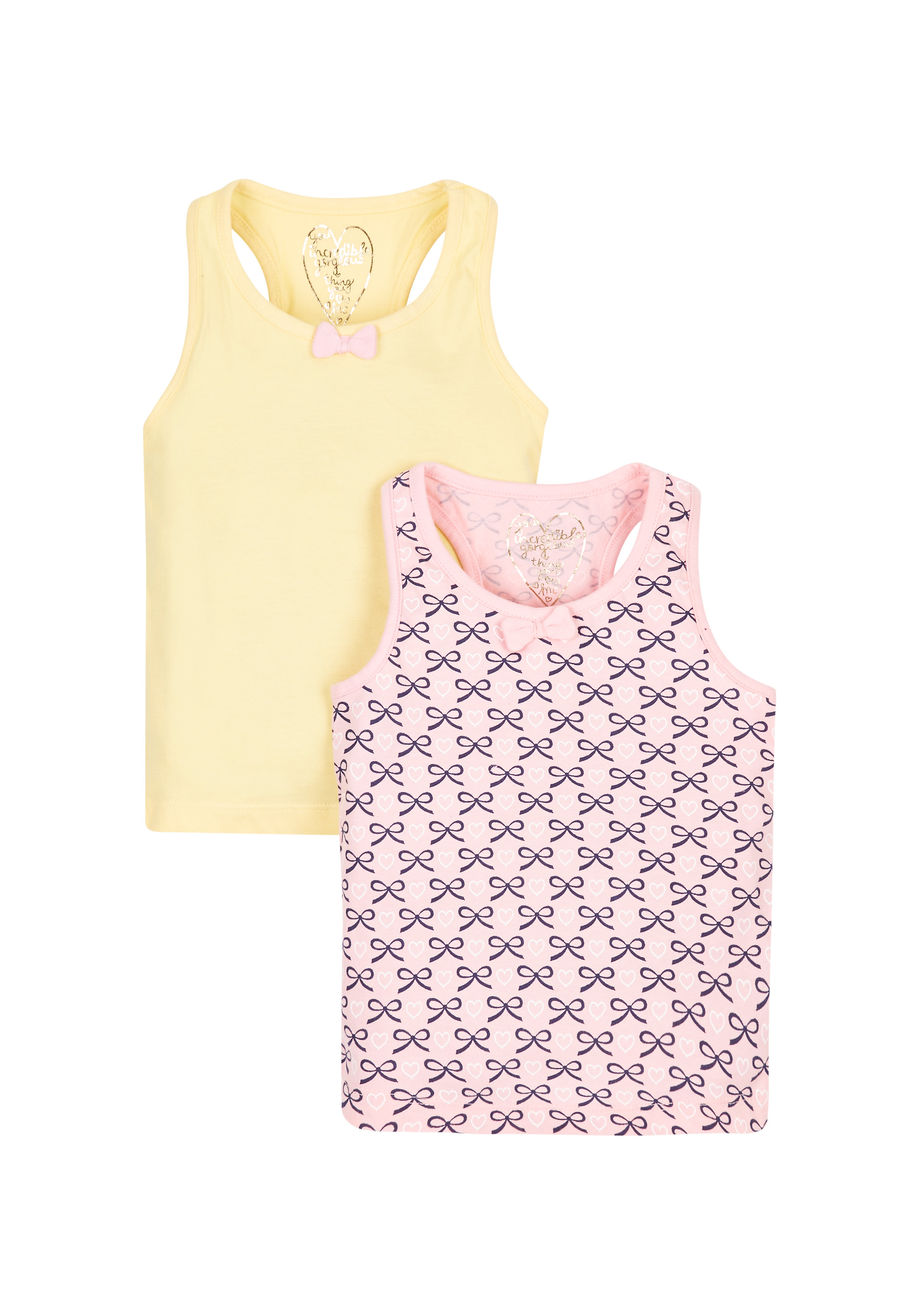Mothercare   Girls Vests - Pack Of 2 - Multicolor