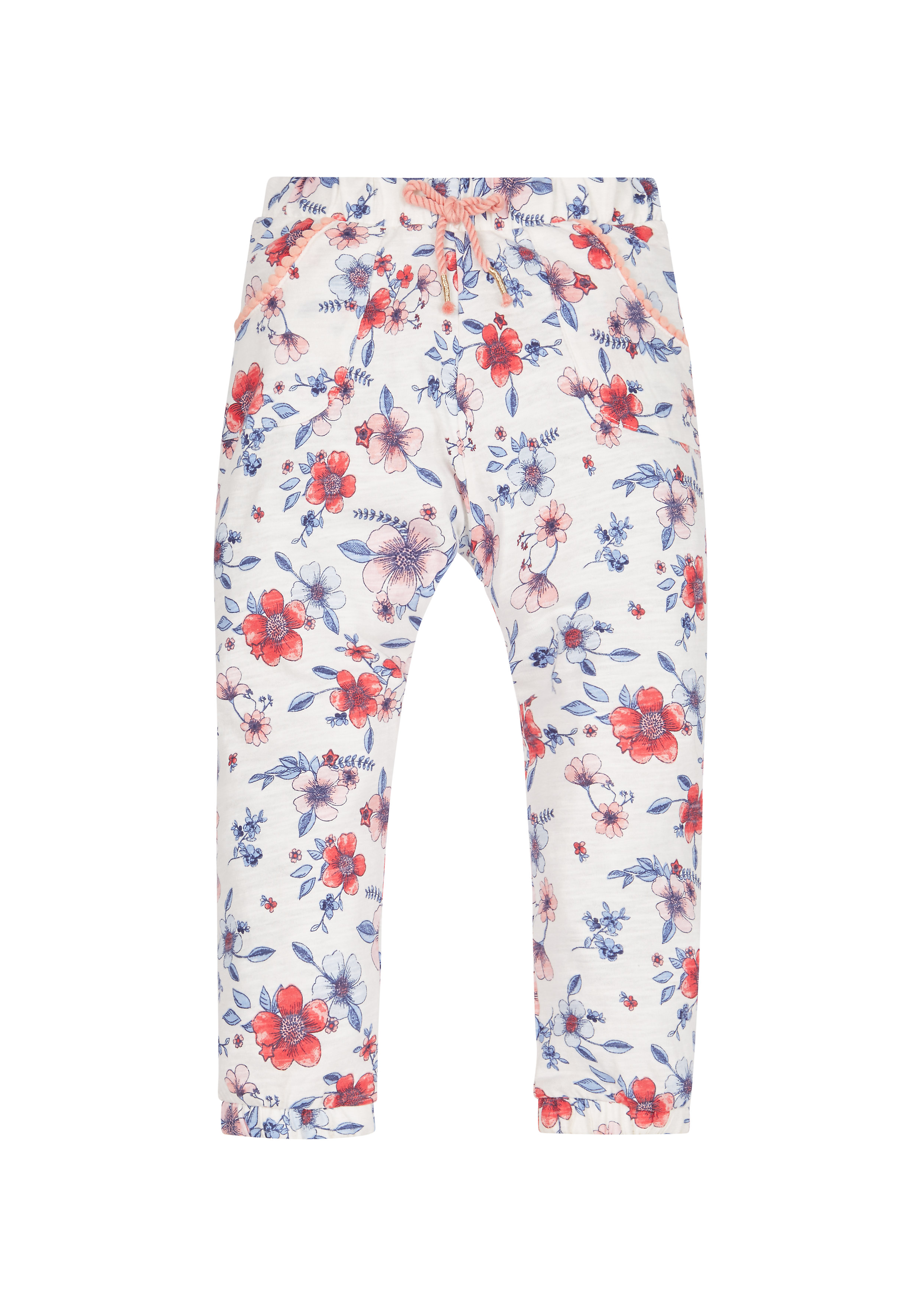 Mothercare | Girls Floral Hareem Trousers - White