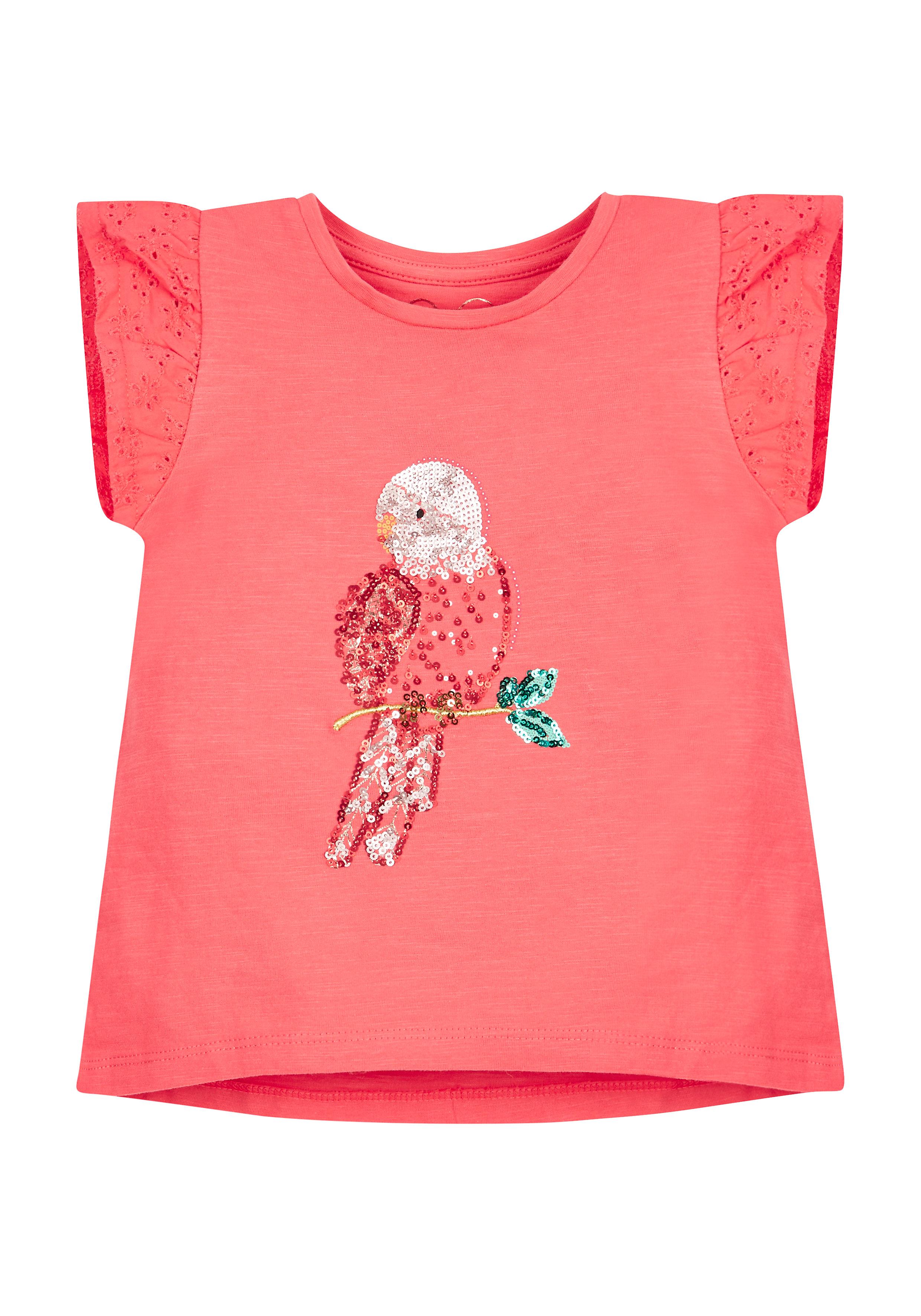 Mothercare | Girls Parrot Sequin Tee - Pink