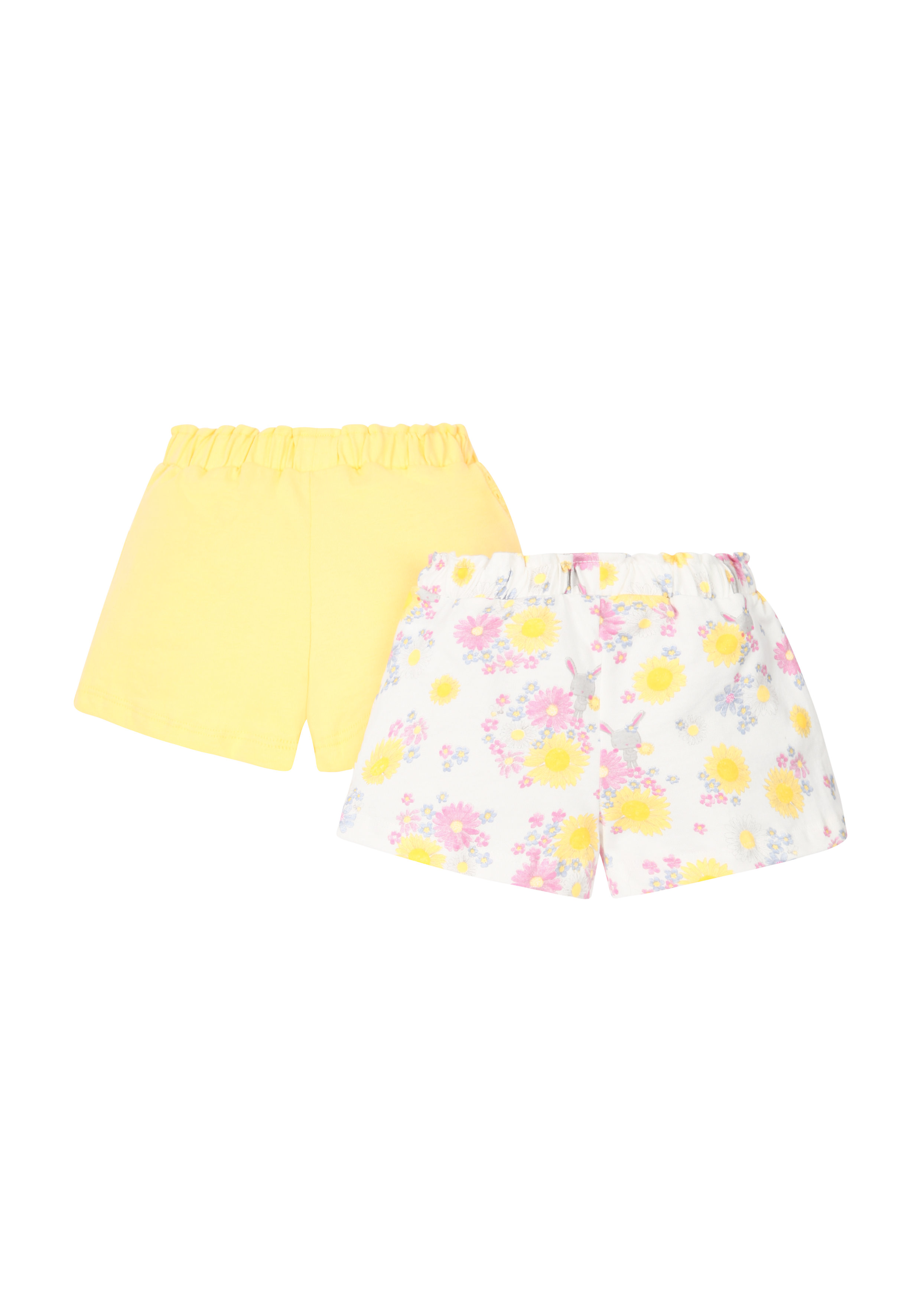 Mothercare | Girls Floral And Yellow Shorts