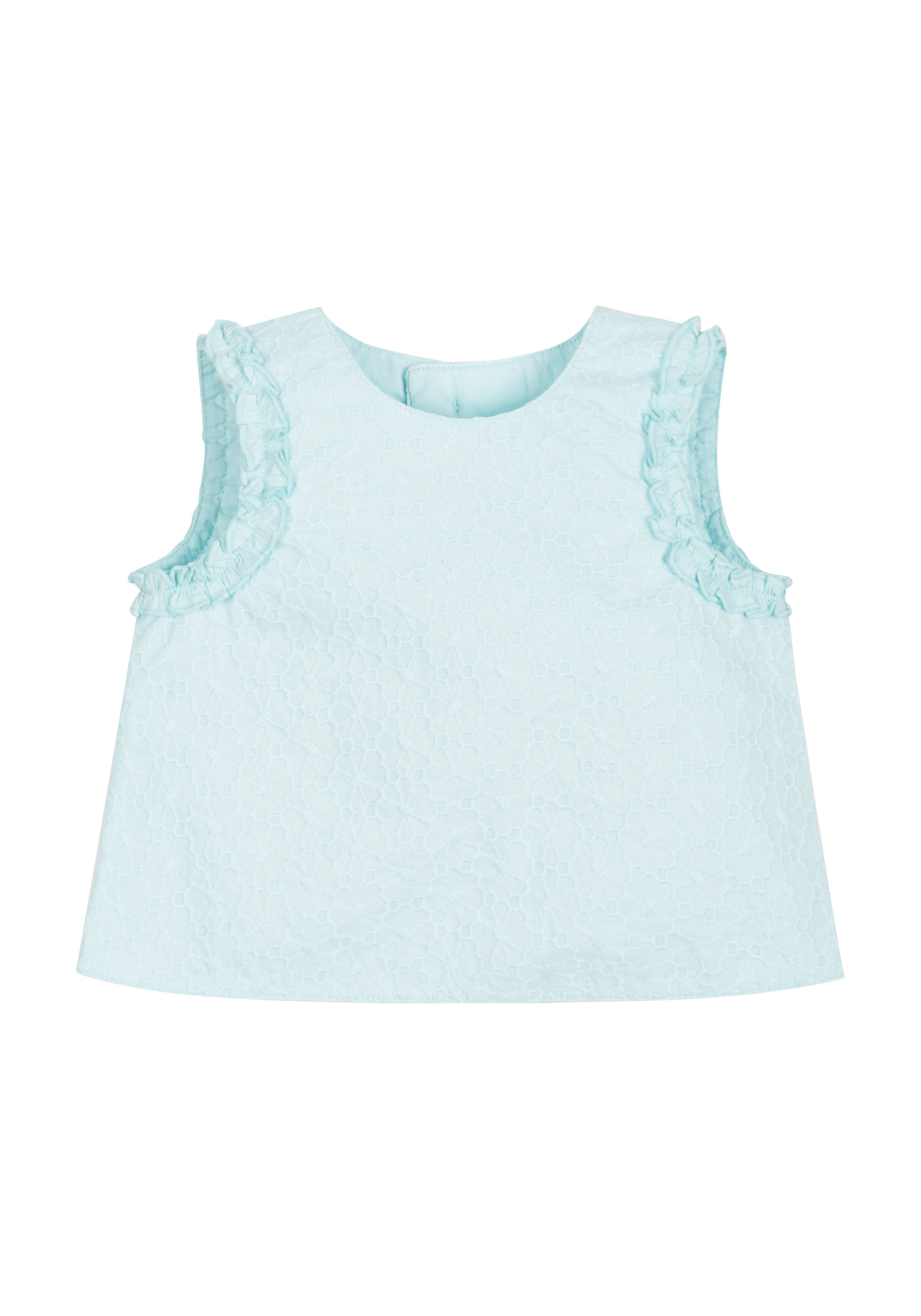 Mothercare | Girls Mint Floral Broderie Blouse