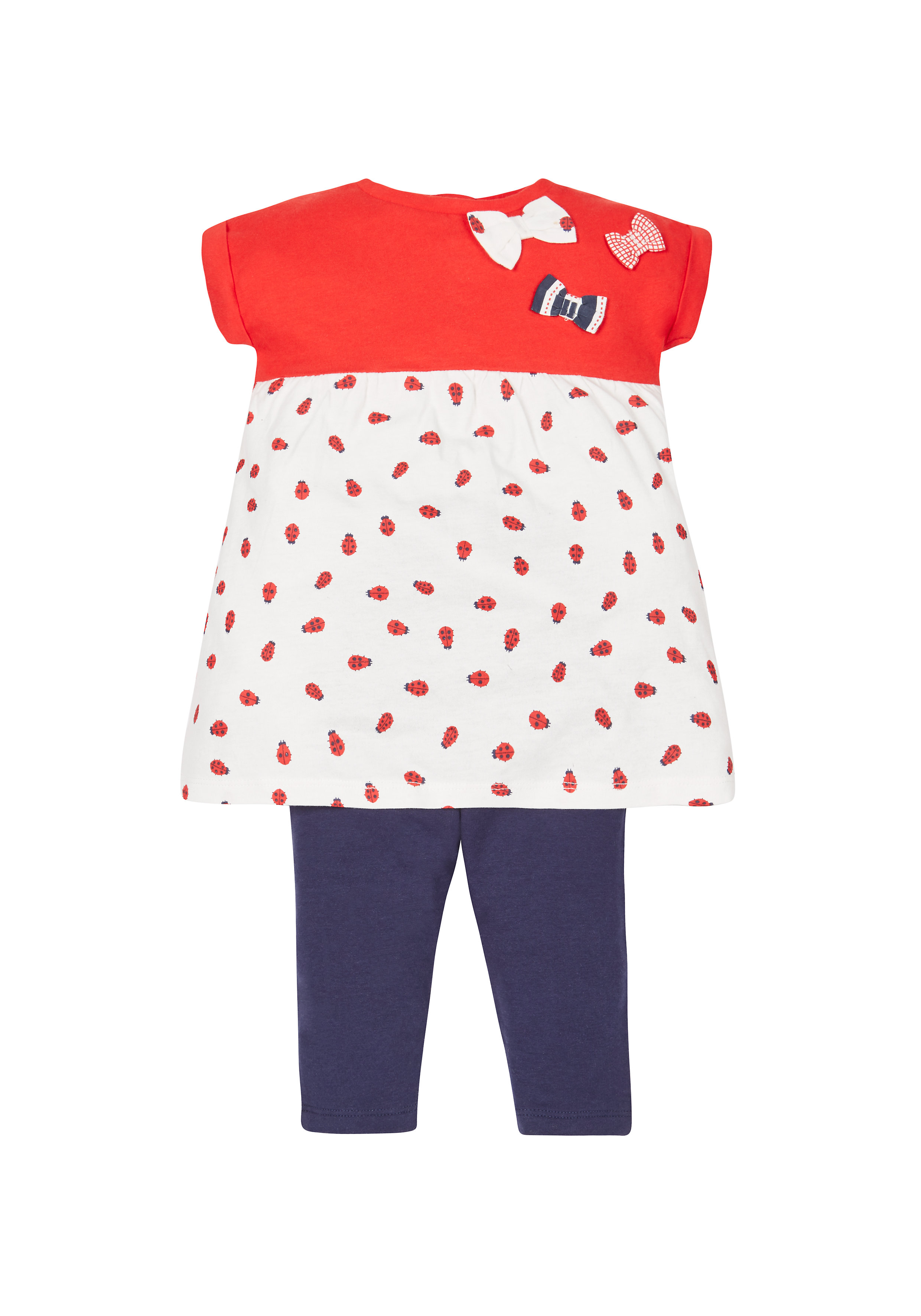 Mothercare | Girls Ladybird Tunic And Leggings Set