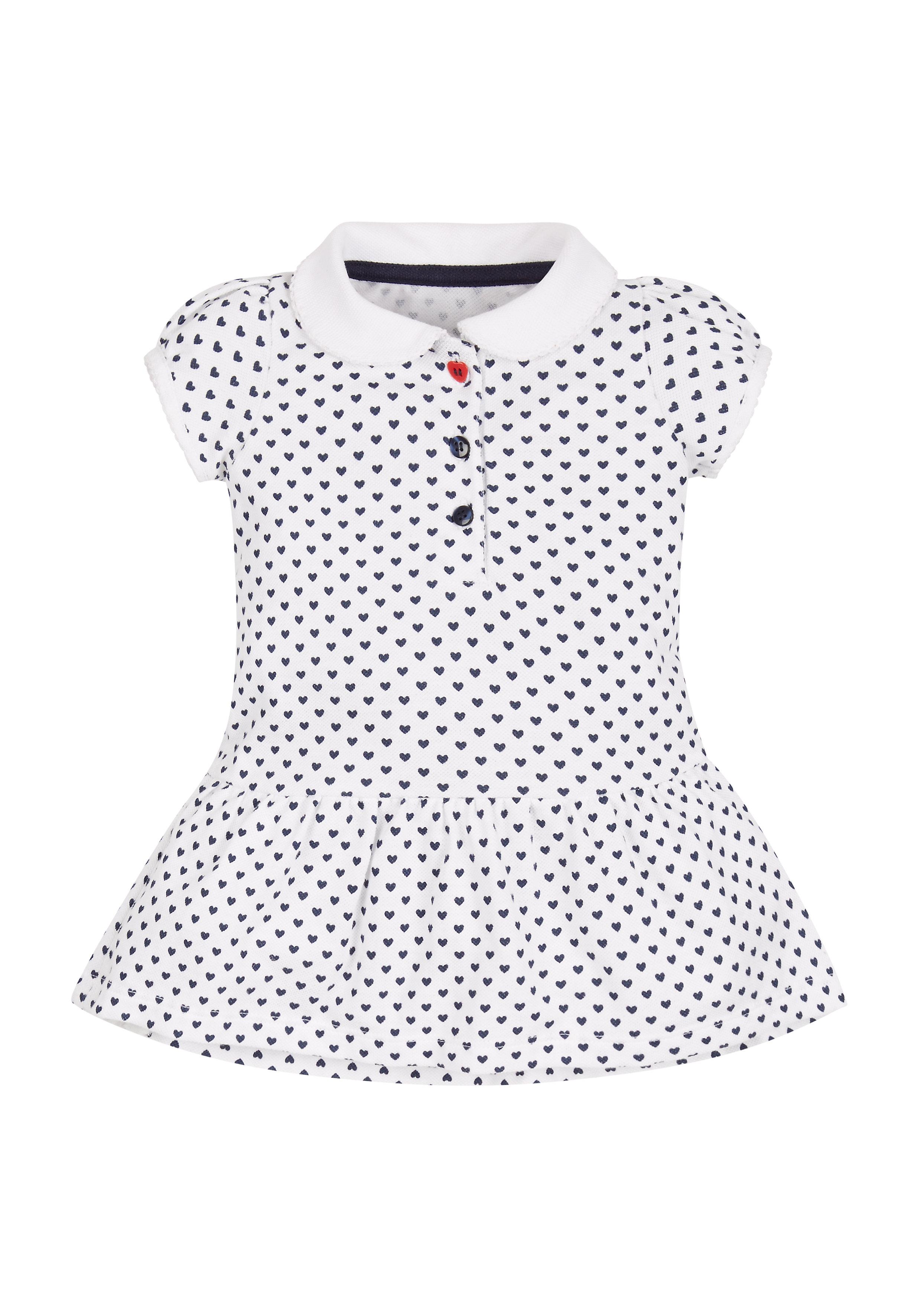 Mothercare | Girls Heart Print Polo Dress