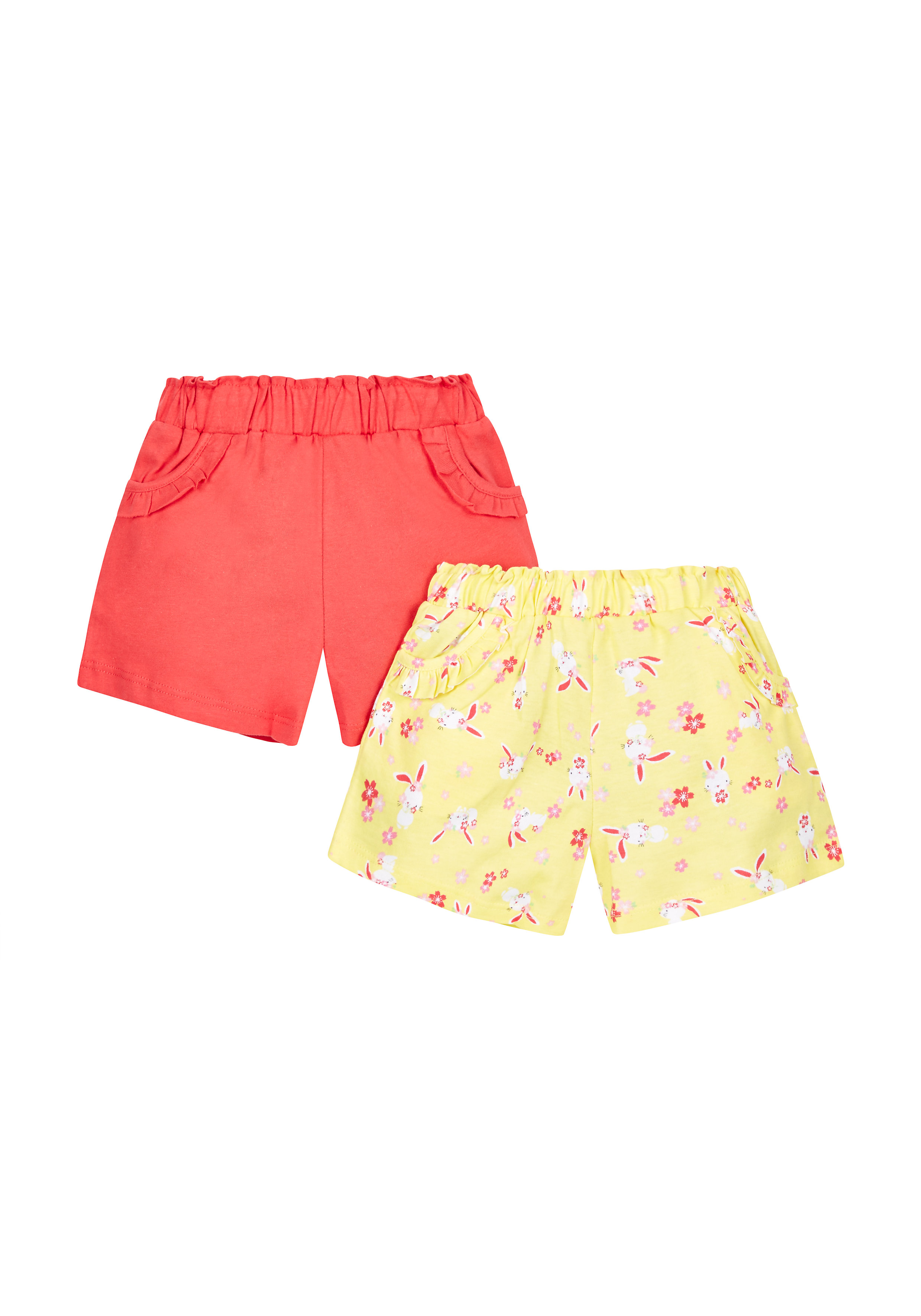 Mothercare | Girls Printed Shorts- Pack Of 2