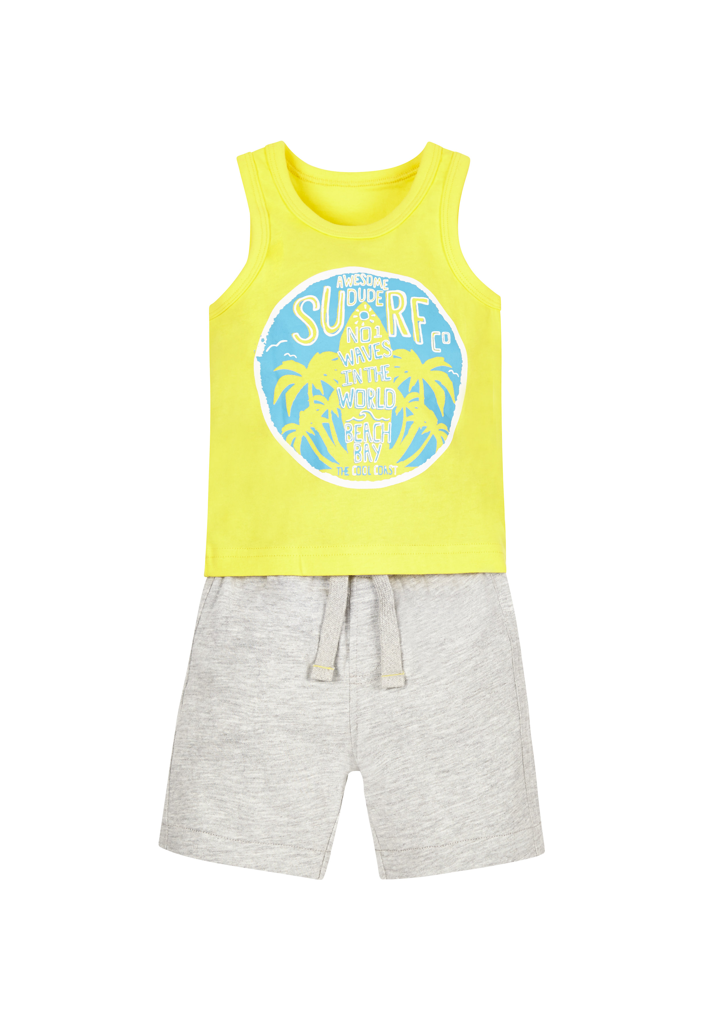 Mothercare | Boys Beach Day Vest And Shorts Set - Yellow