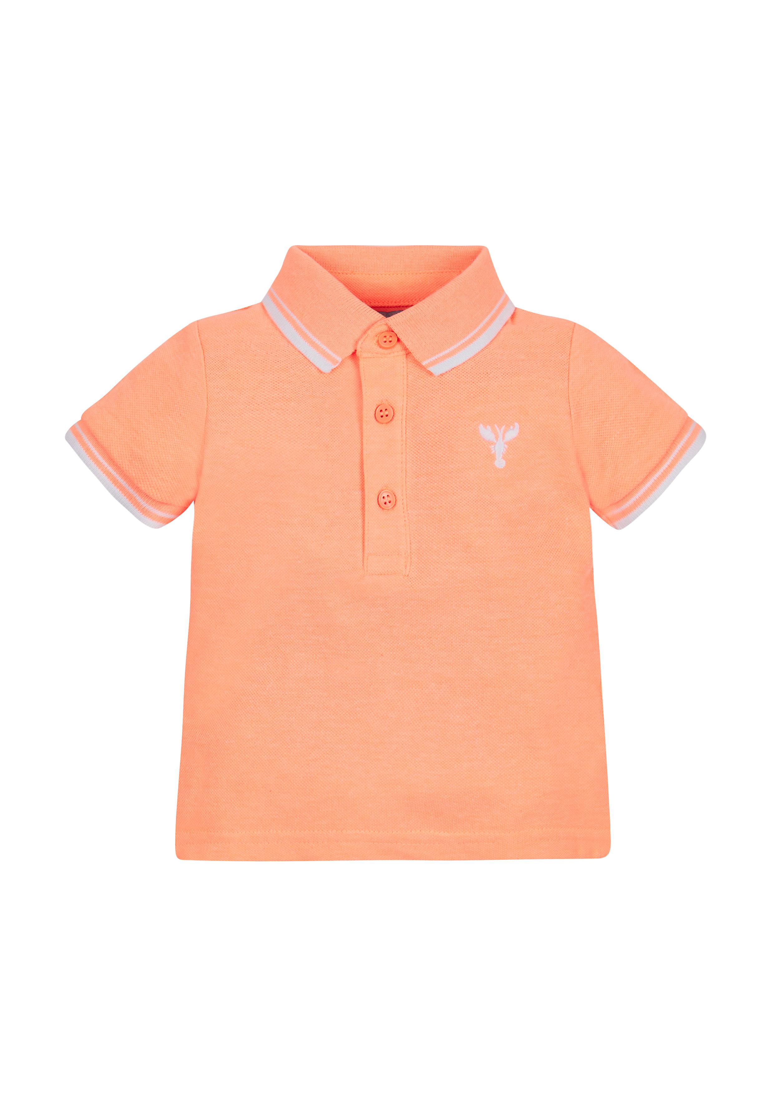Mothercare | Boys Half Sleeves Embroidered Polo T-Shirt - Orange