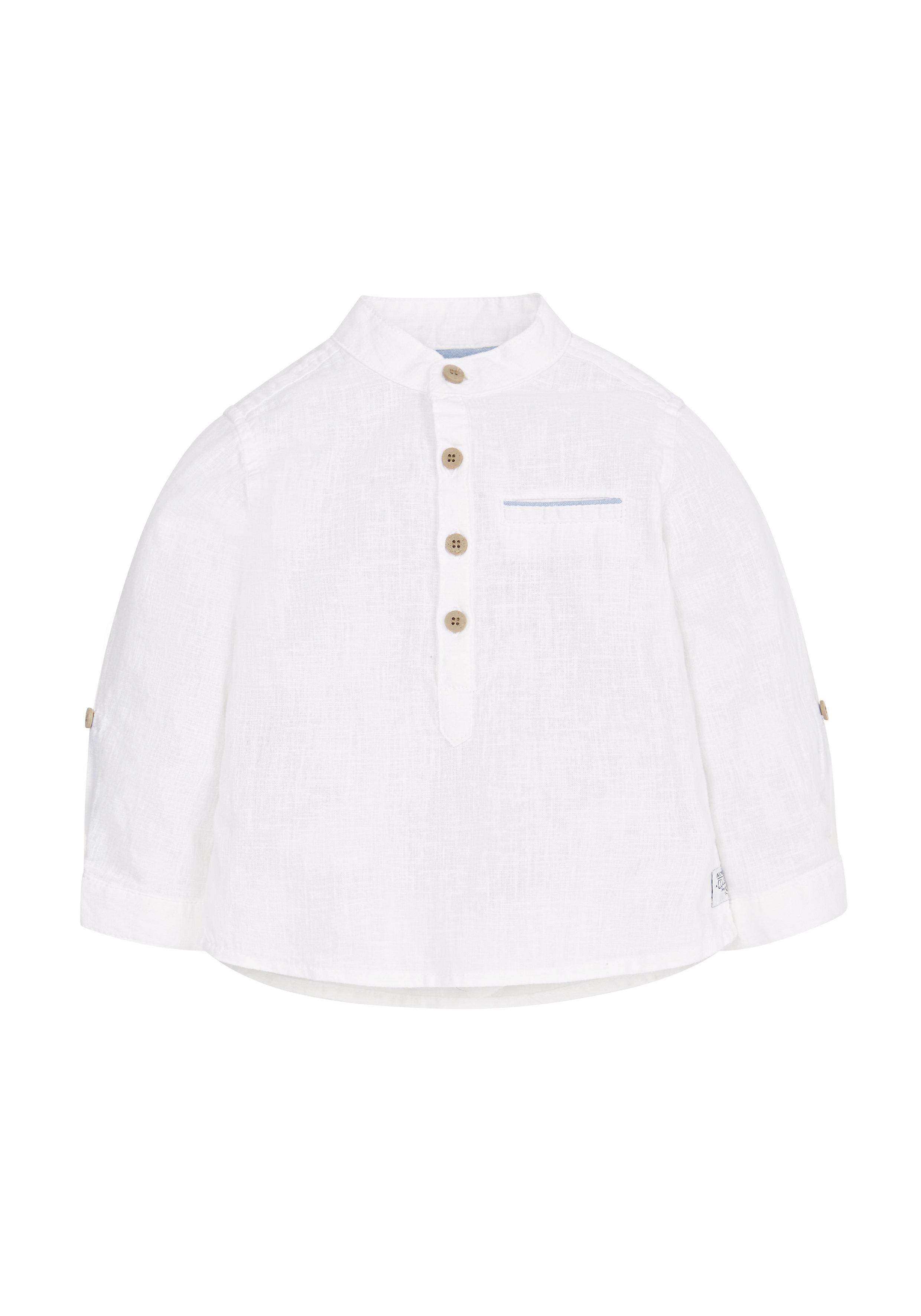 Mothercare | Boys Full Sleeves Roll Up Shirt - White