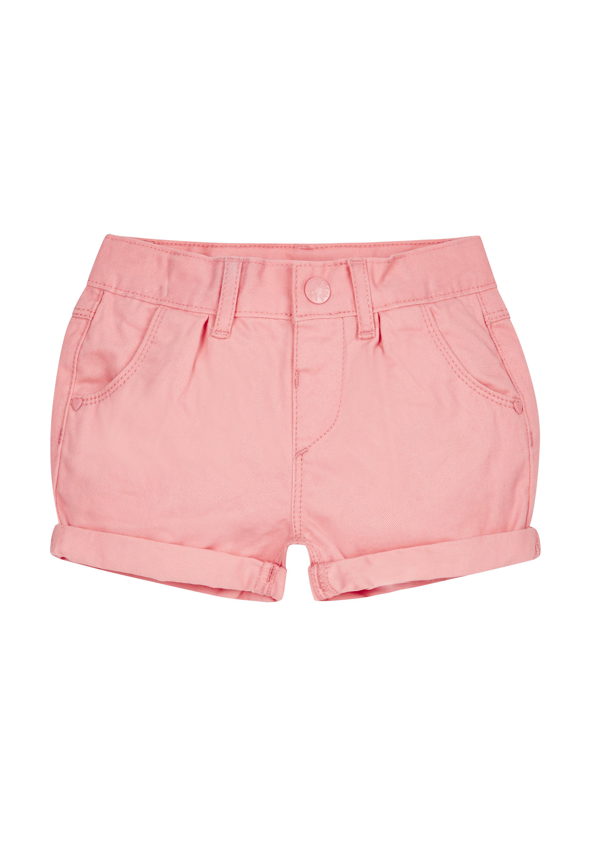 Mothercare   Girls Denim Shorts - Coral