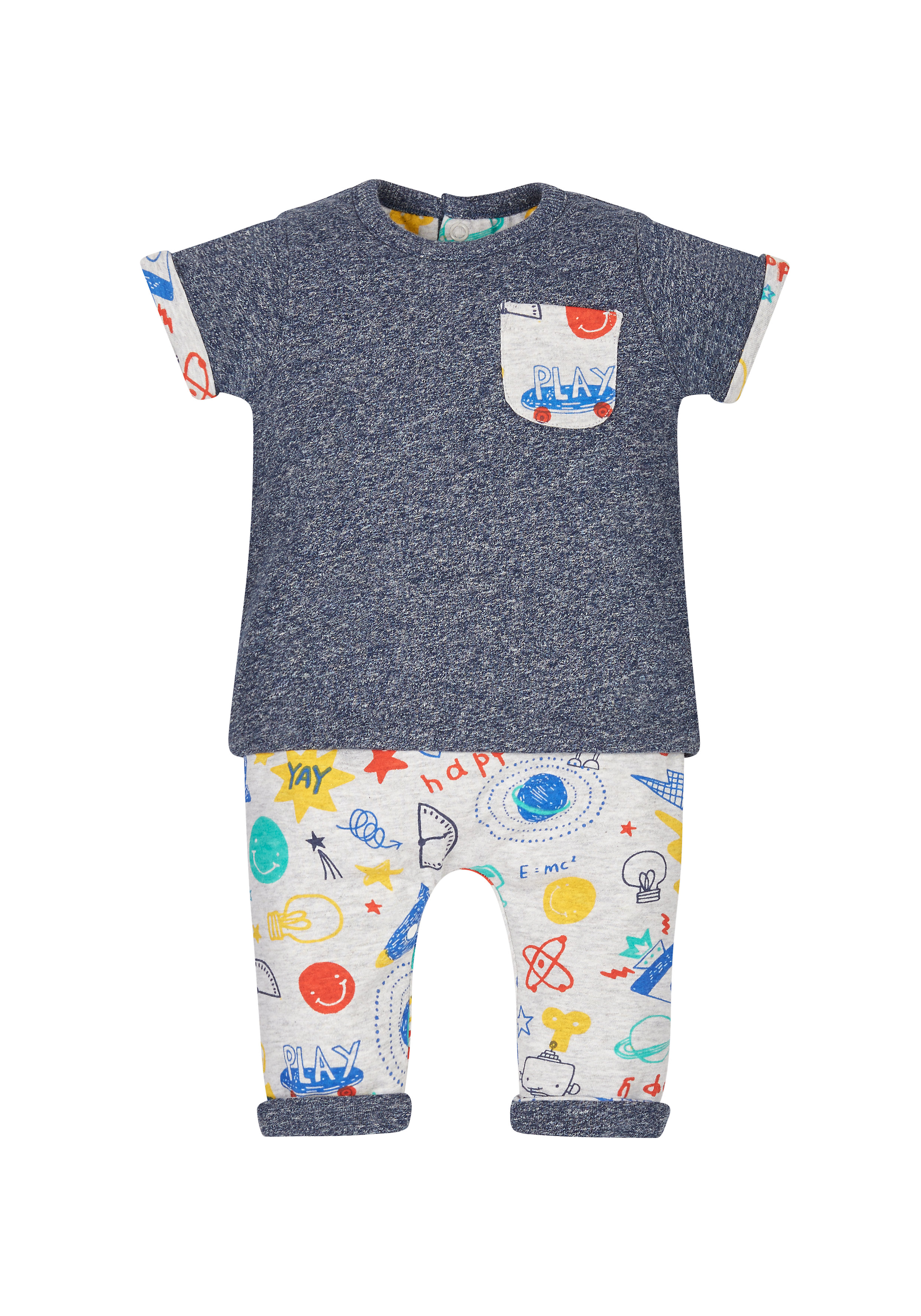 Mothercare | Doodle Reversible T-Shirt And Joggers Set