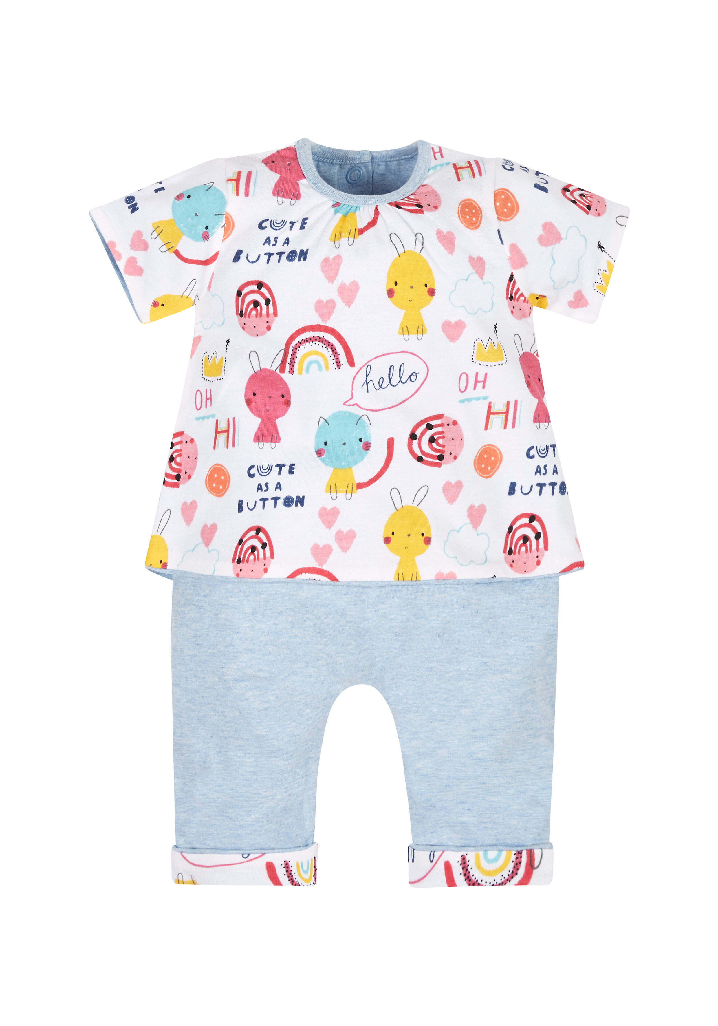 Mothercare | Cute Reversible T-Shirt And Joggers Set