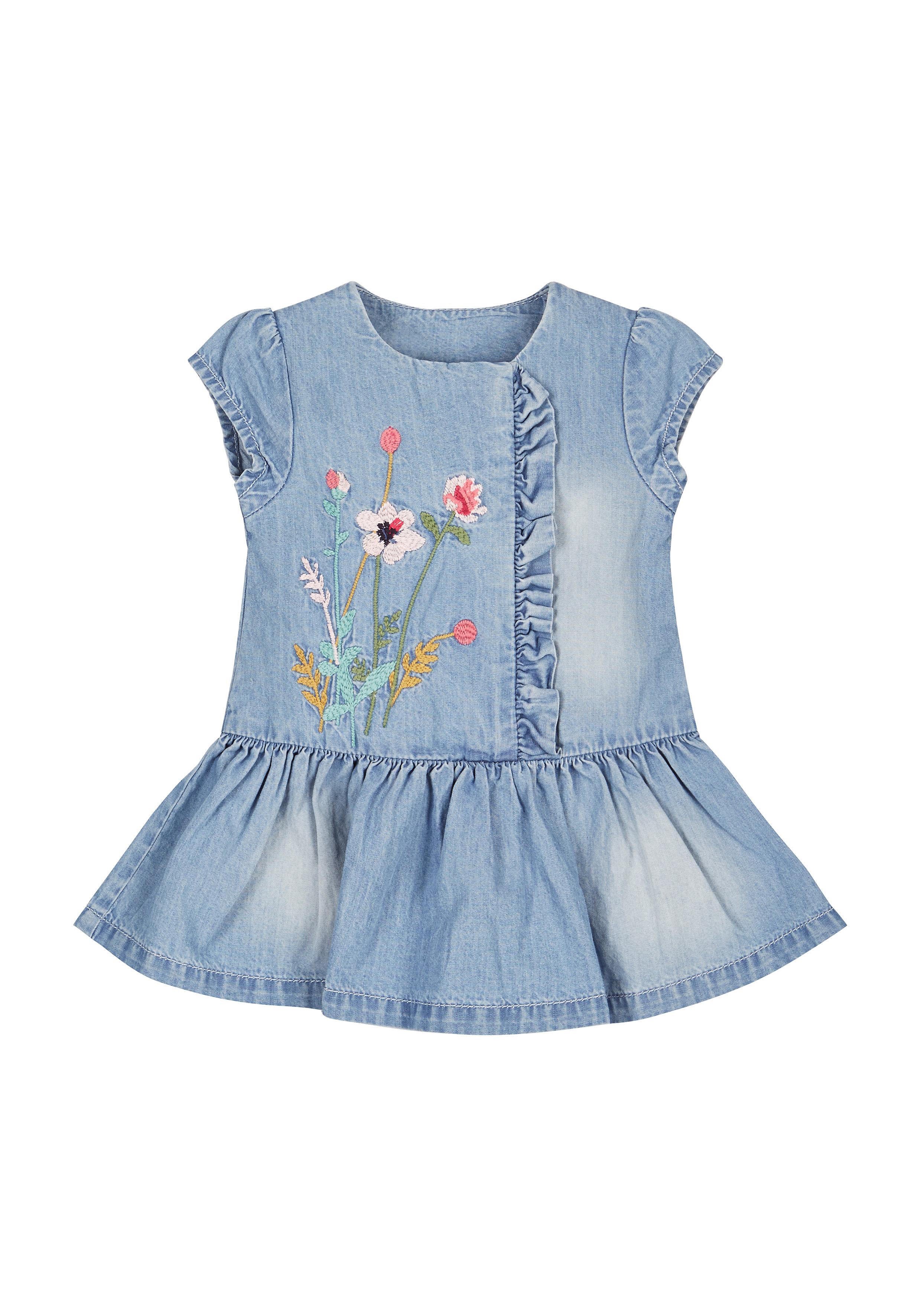 Mothercare | Denim Ruffle Dress