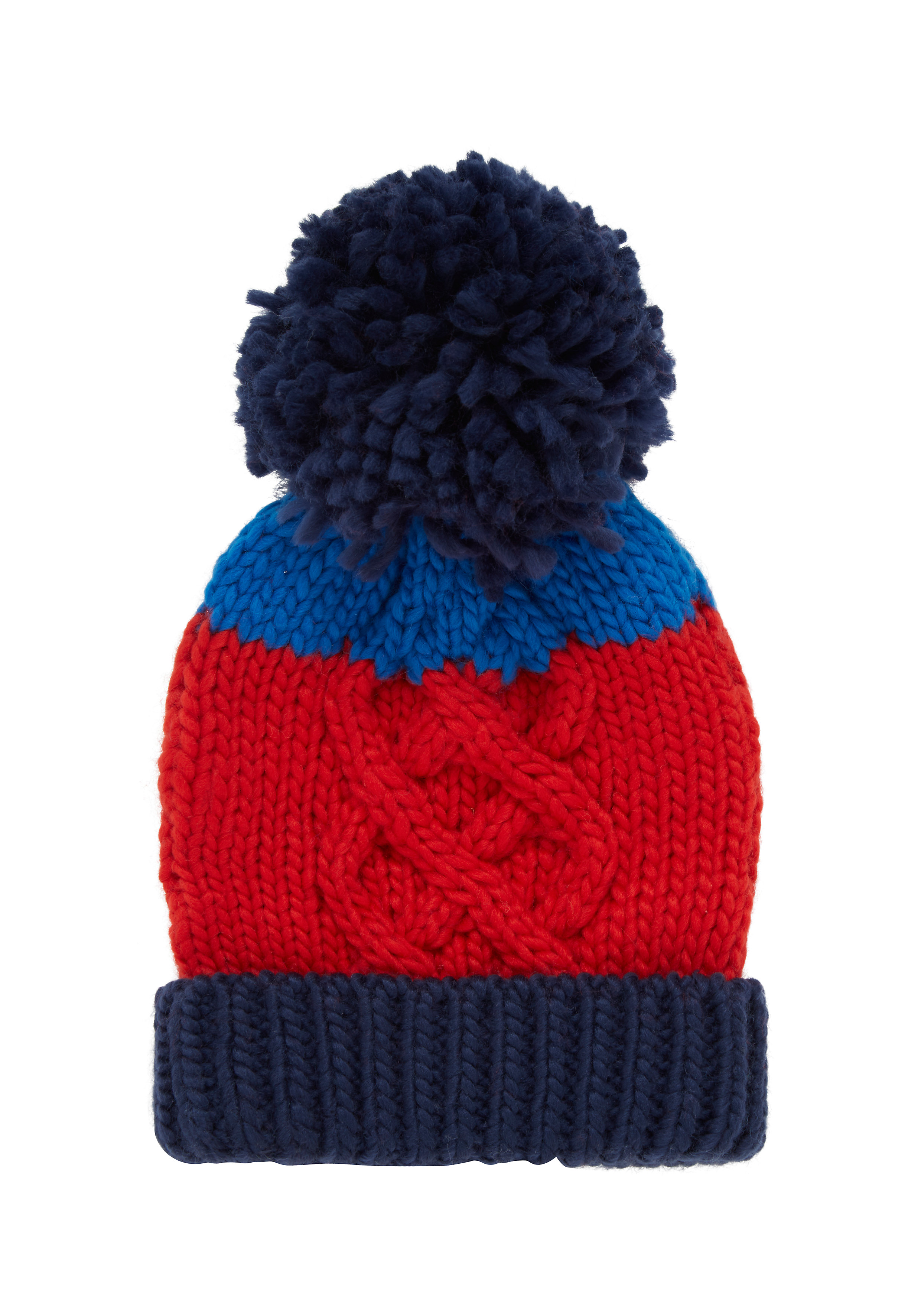 Mothercare | Boys Beanie Cable Knit - Red