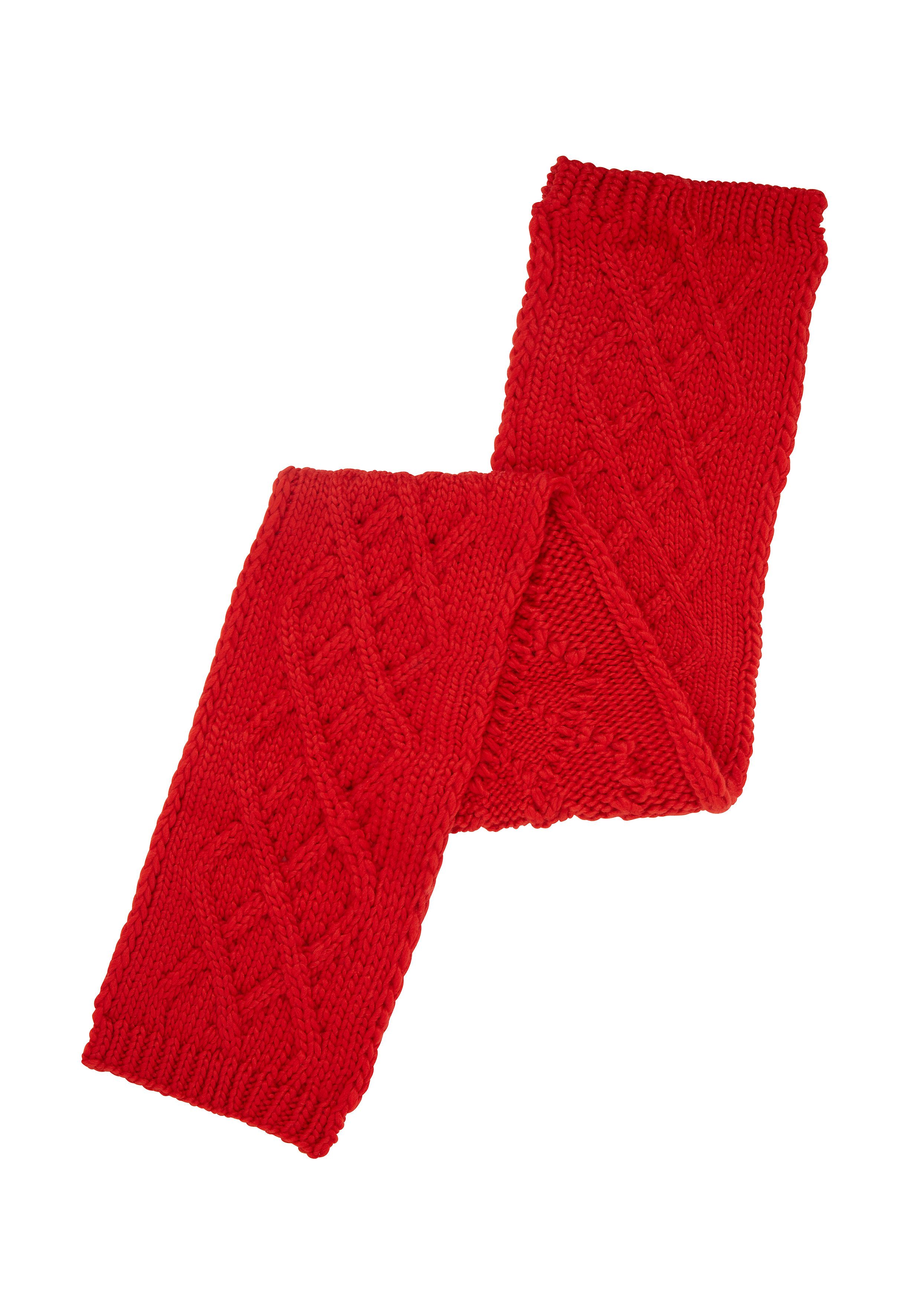 Mothercare | Red Cable Knit Scarf