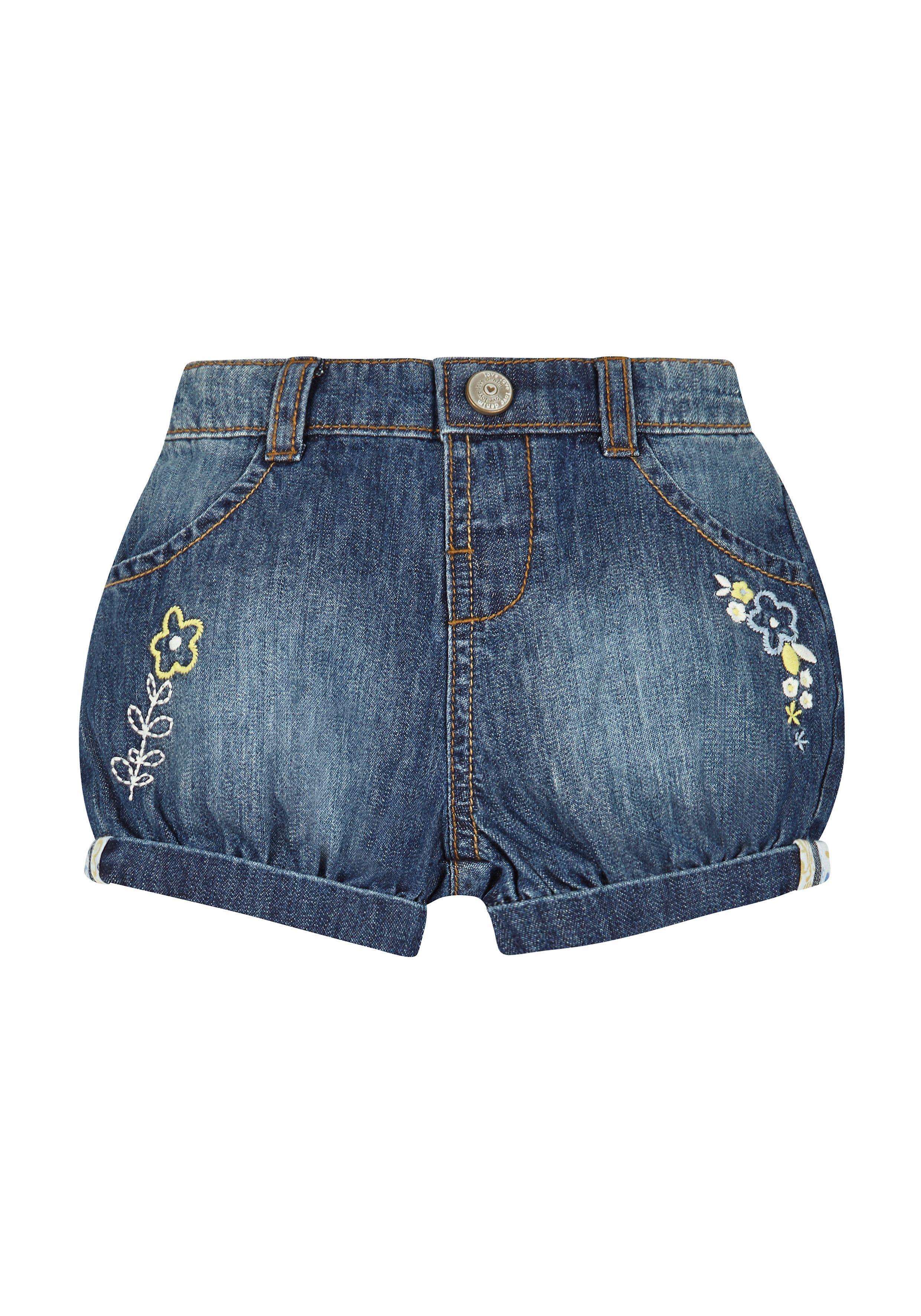 Mothercare   Girls Denim Shorts - Blue
