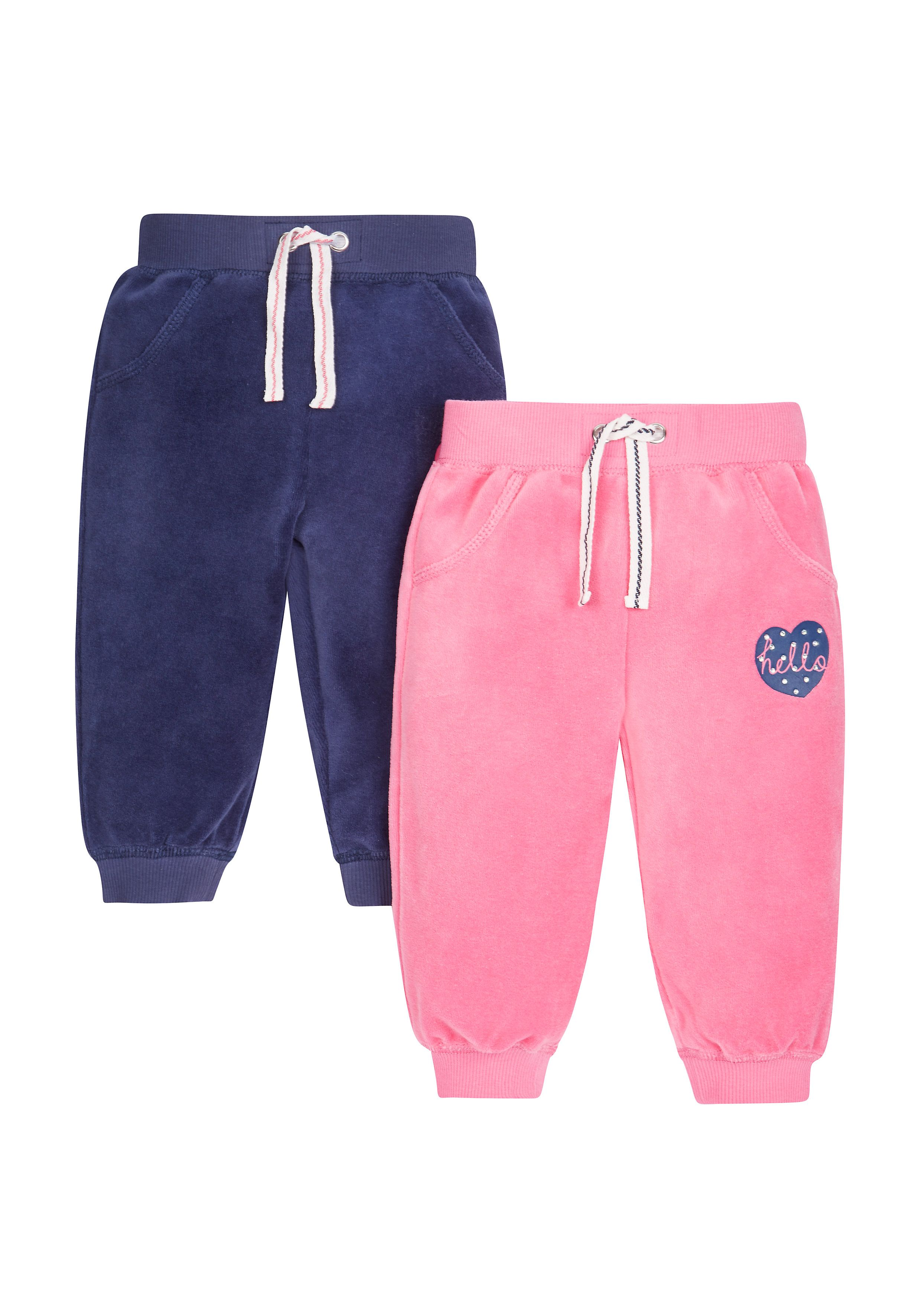 Mothercare | Velour Joggers - 2 Pack