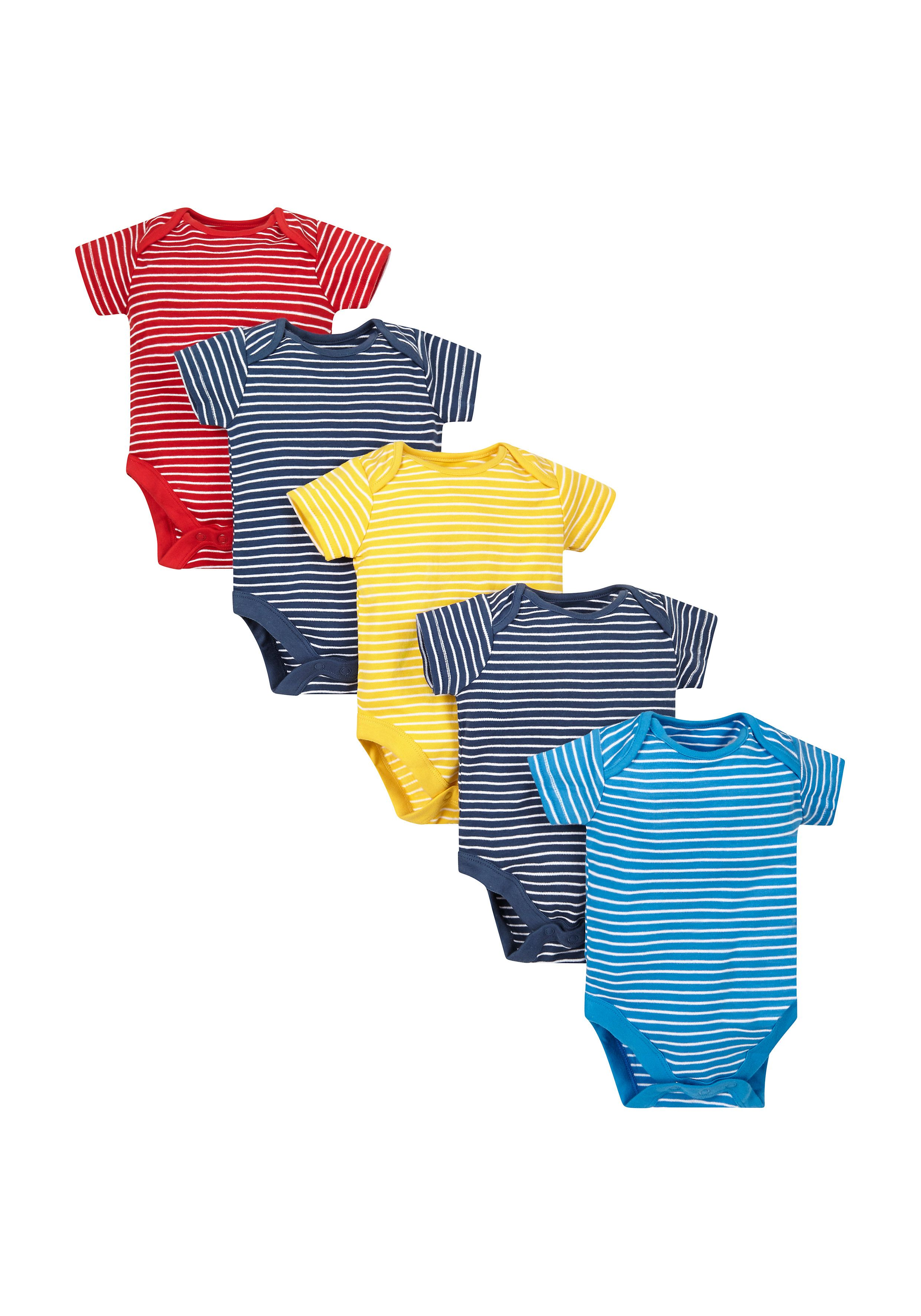 Mothercare | Striped Bodysuits - 5 Pack