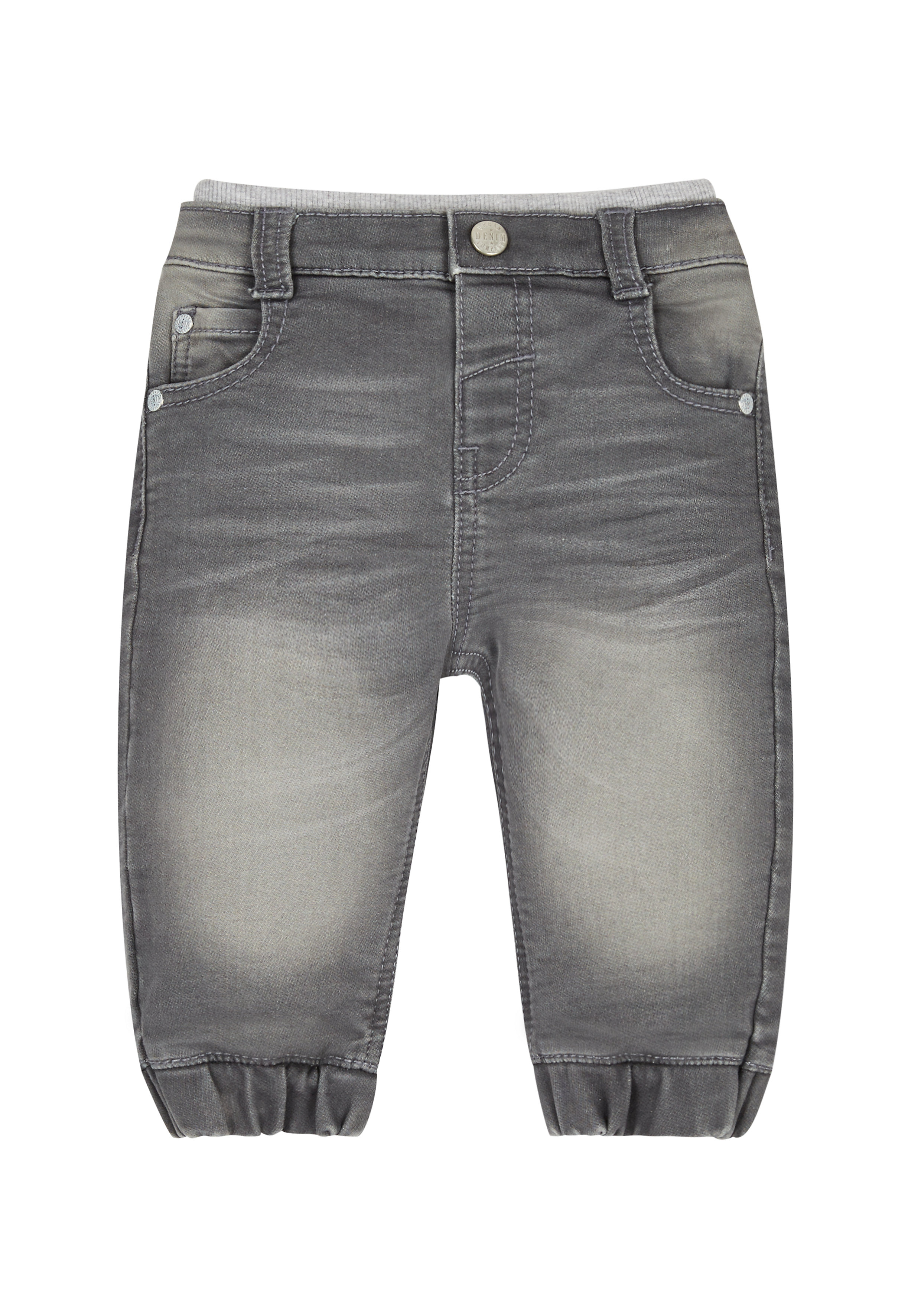 Mothercare   Boys Jogger Jeans Rib Waist - Grey