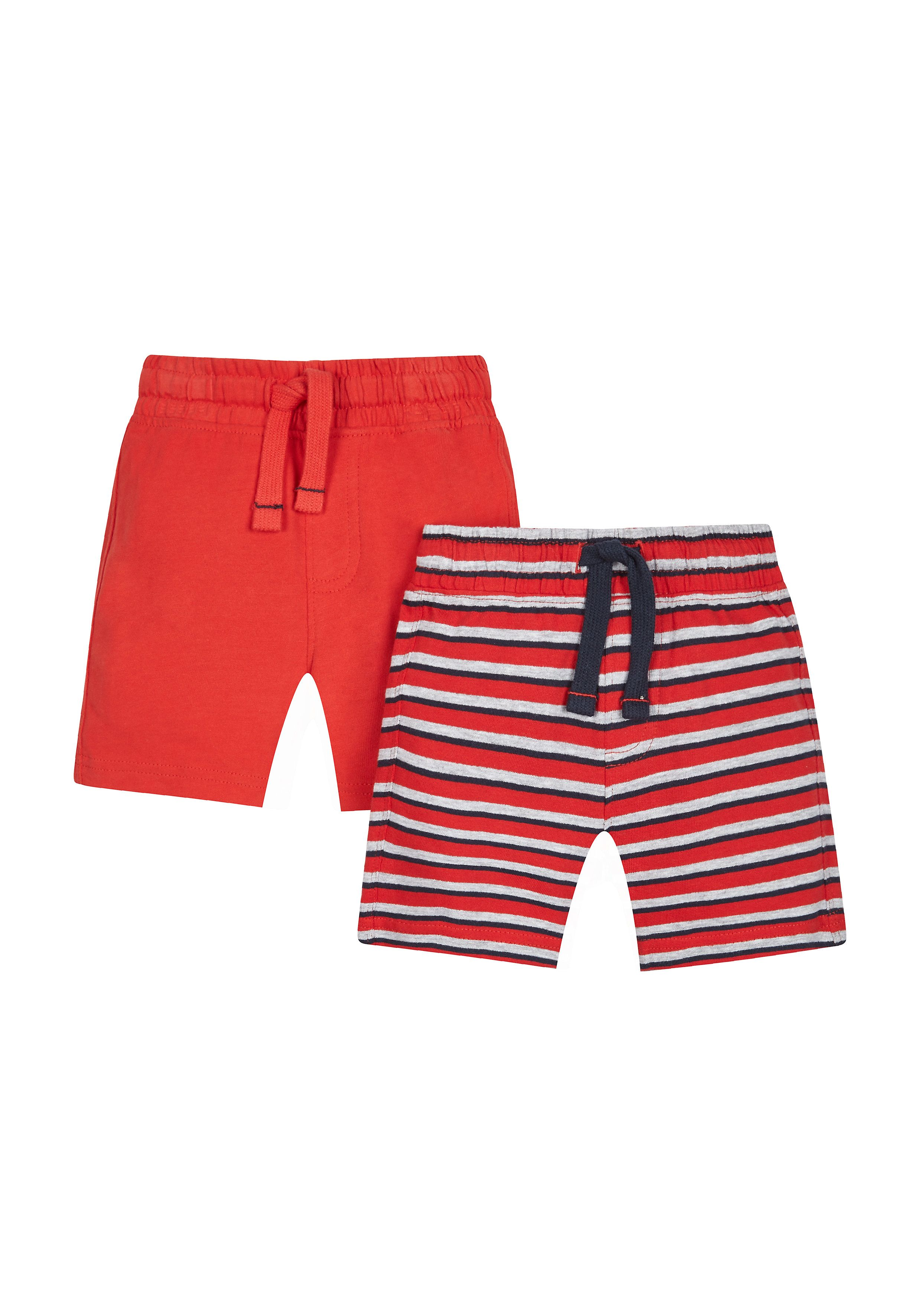Mothercare | Red And Striped Shorts - 2 Pack