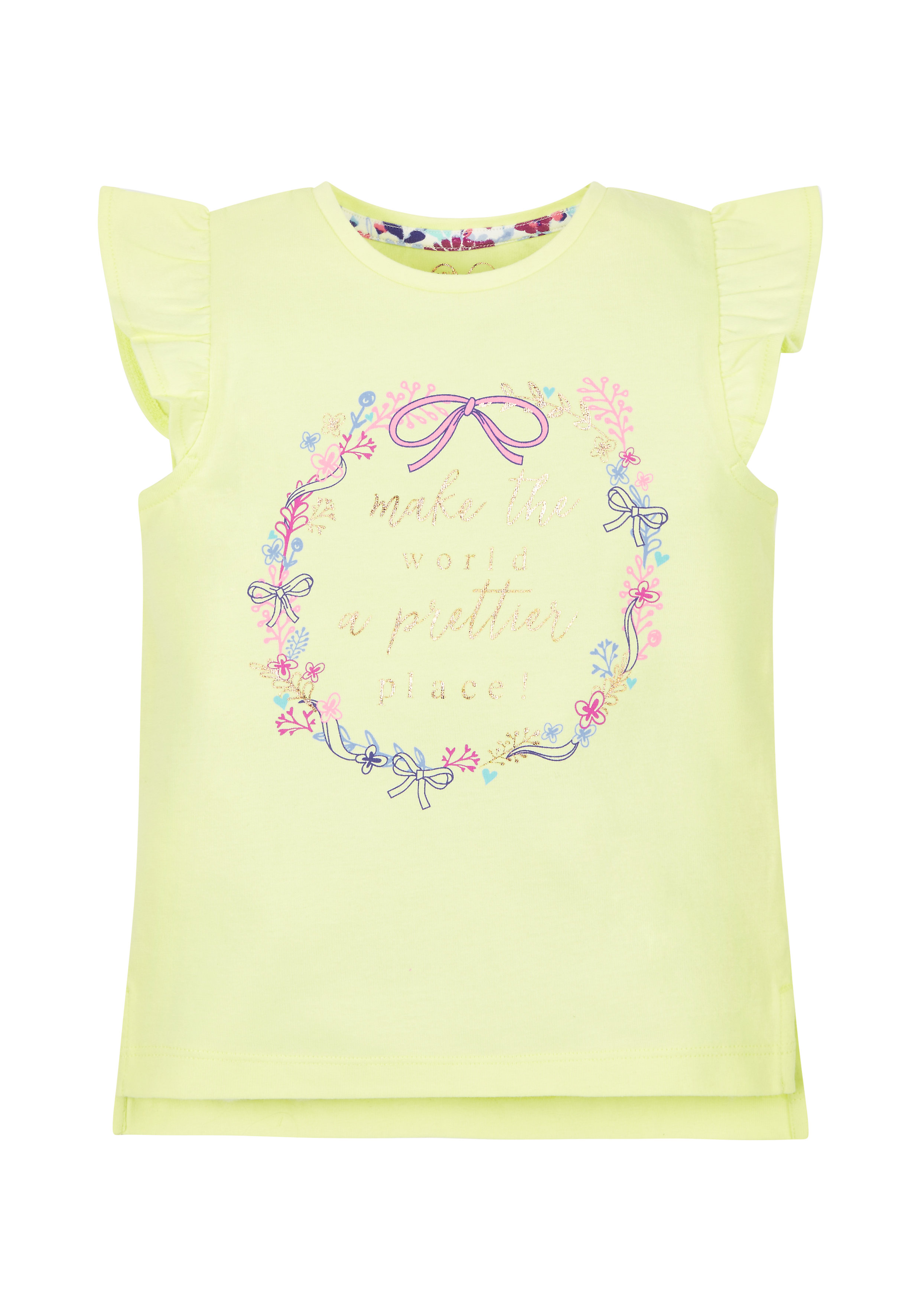 Mothercare | Girls Prettier Place T-Shirt - Lime