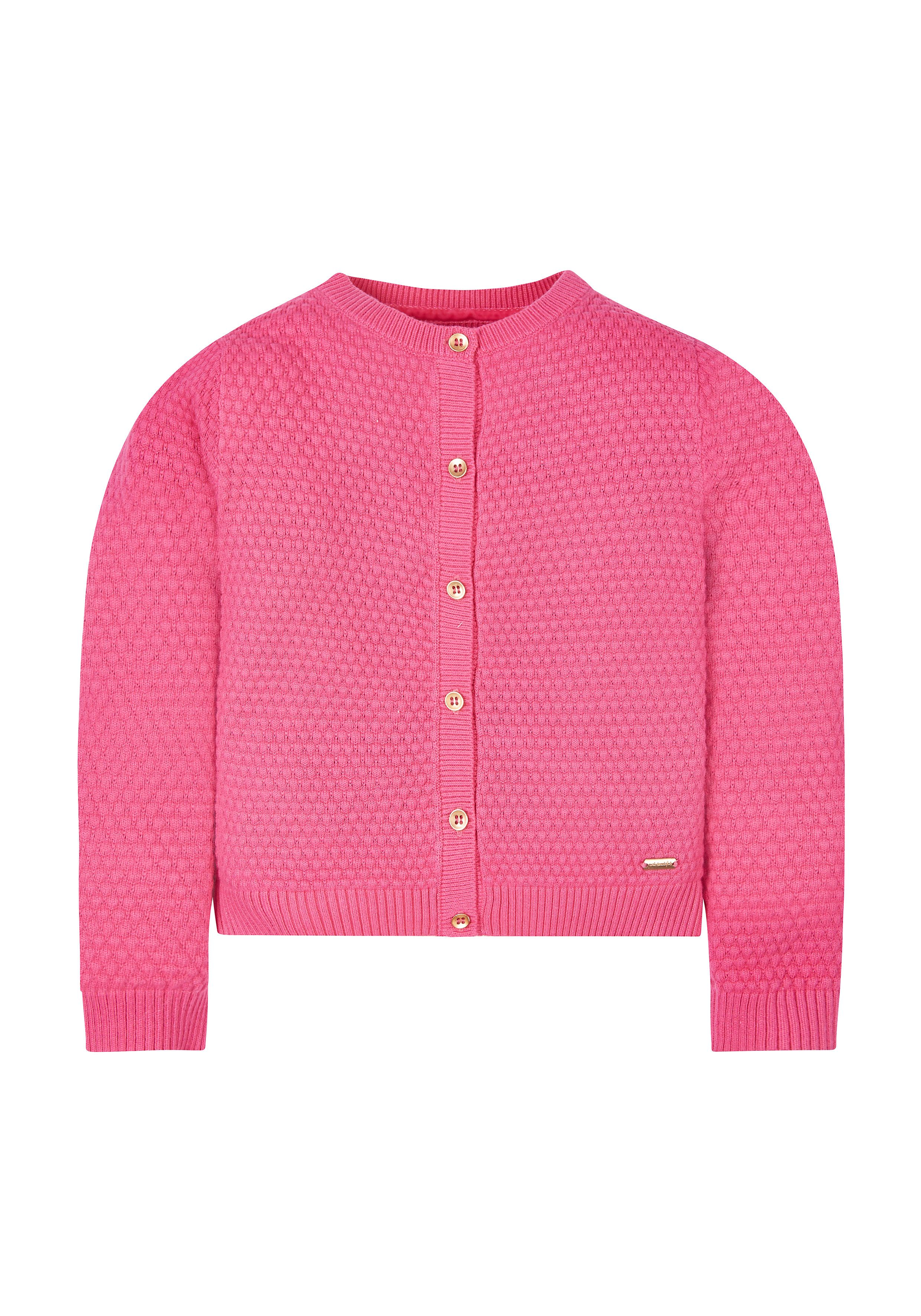 Mothercare   Pink Bubble Knit Cardigan