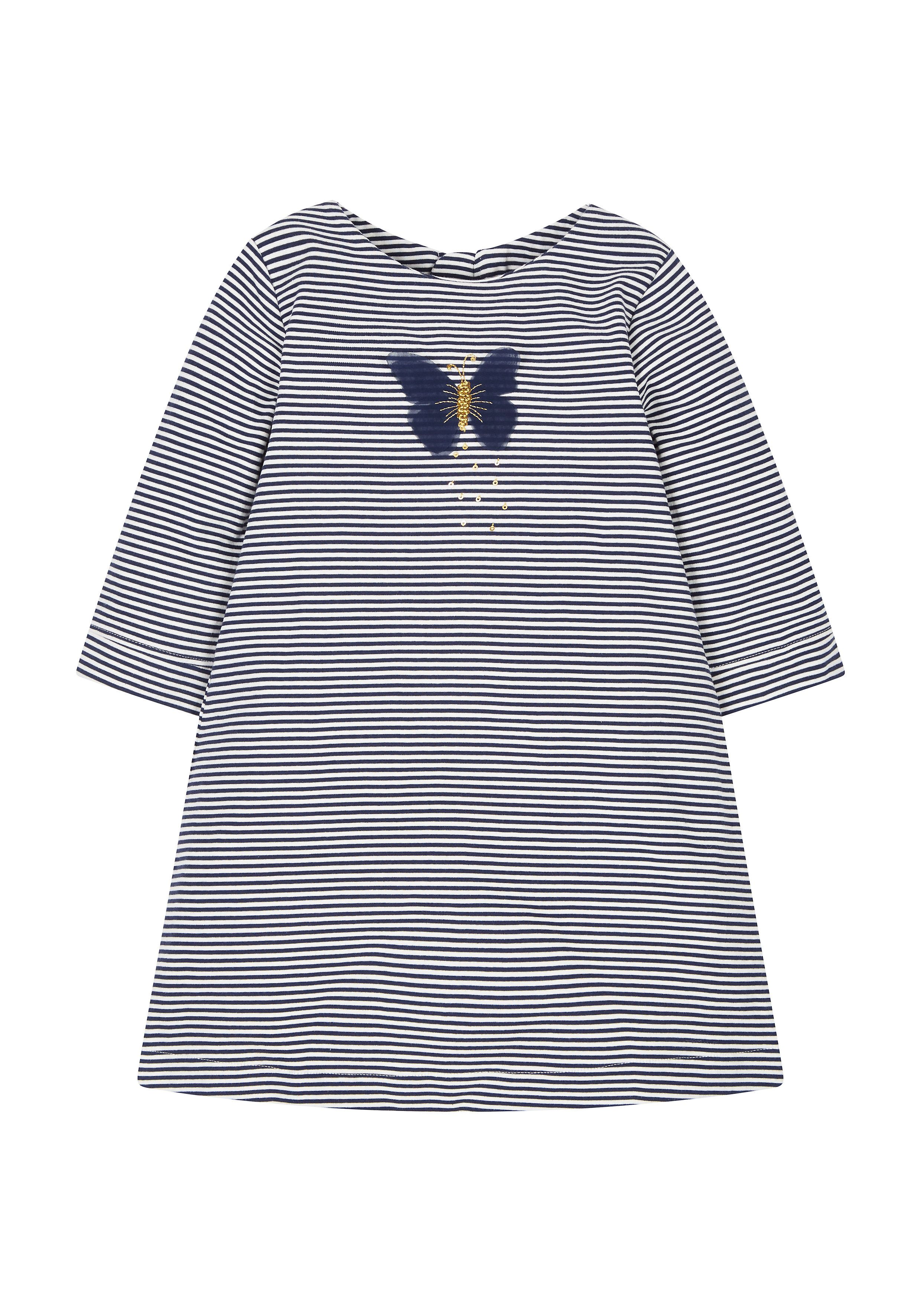 Mothercare   Stripe Butterfly Jersey Dress