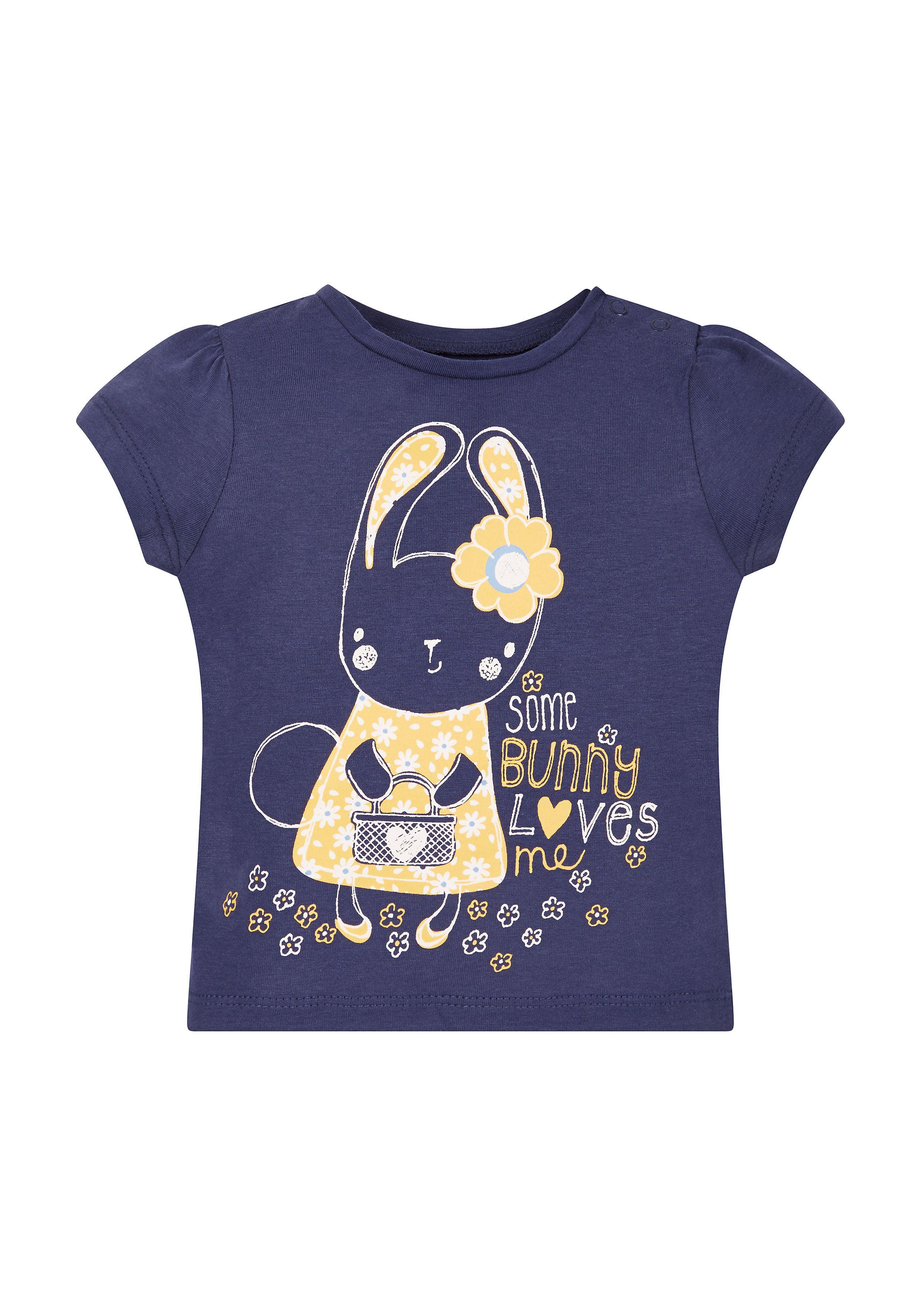 Mothercare | Navy Bunny Love Short Sleeve T-Shirt