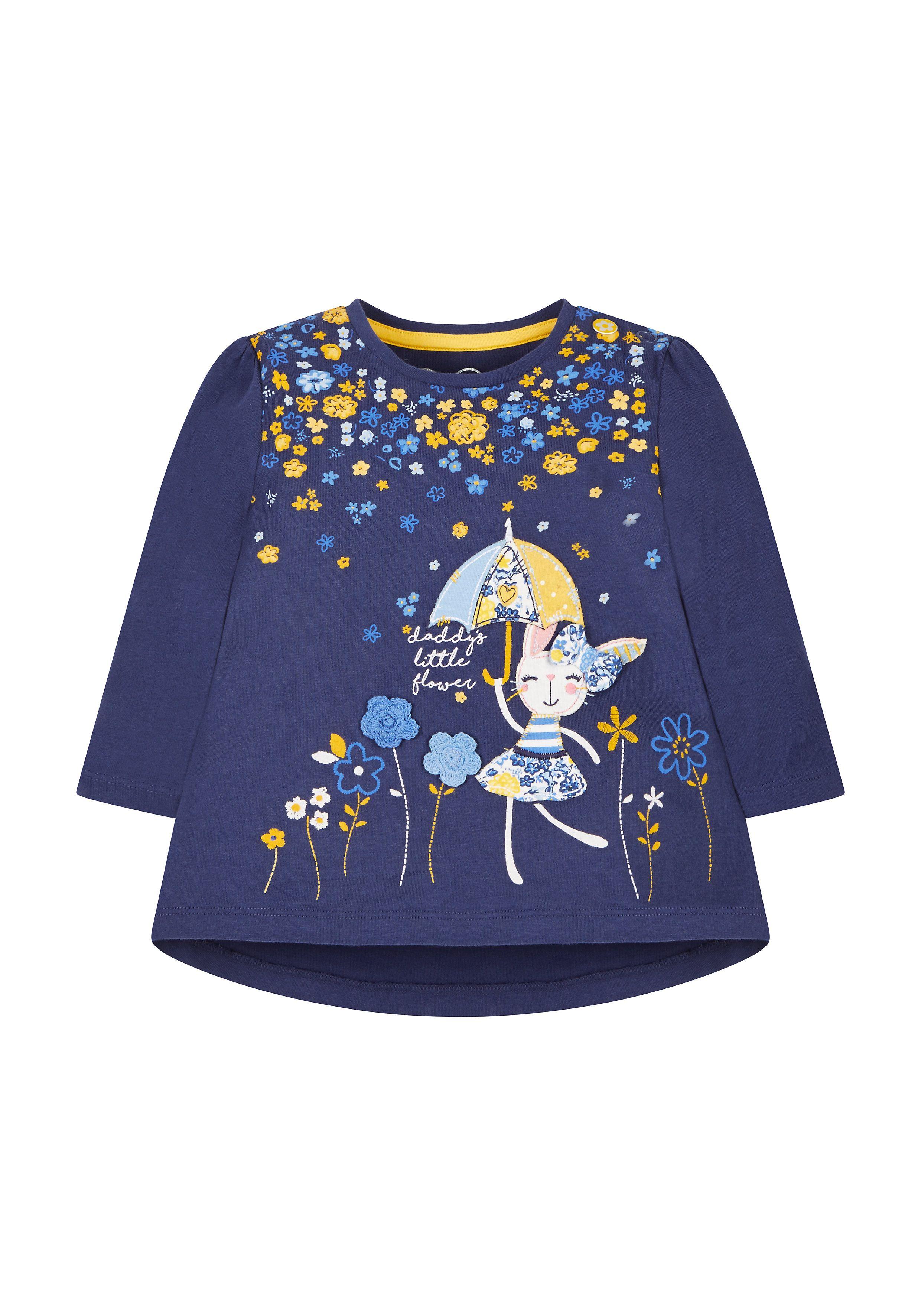 Mothercare   Navy Flower Shower T-Shirt