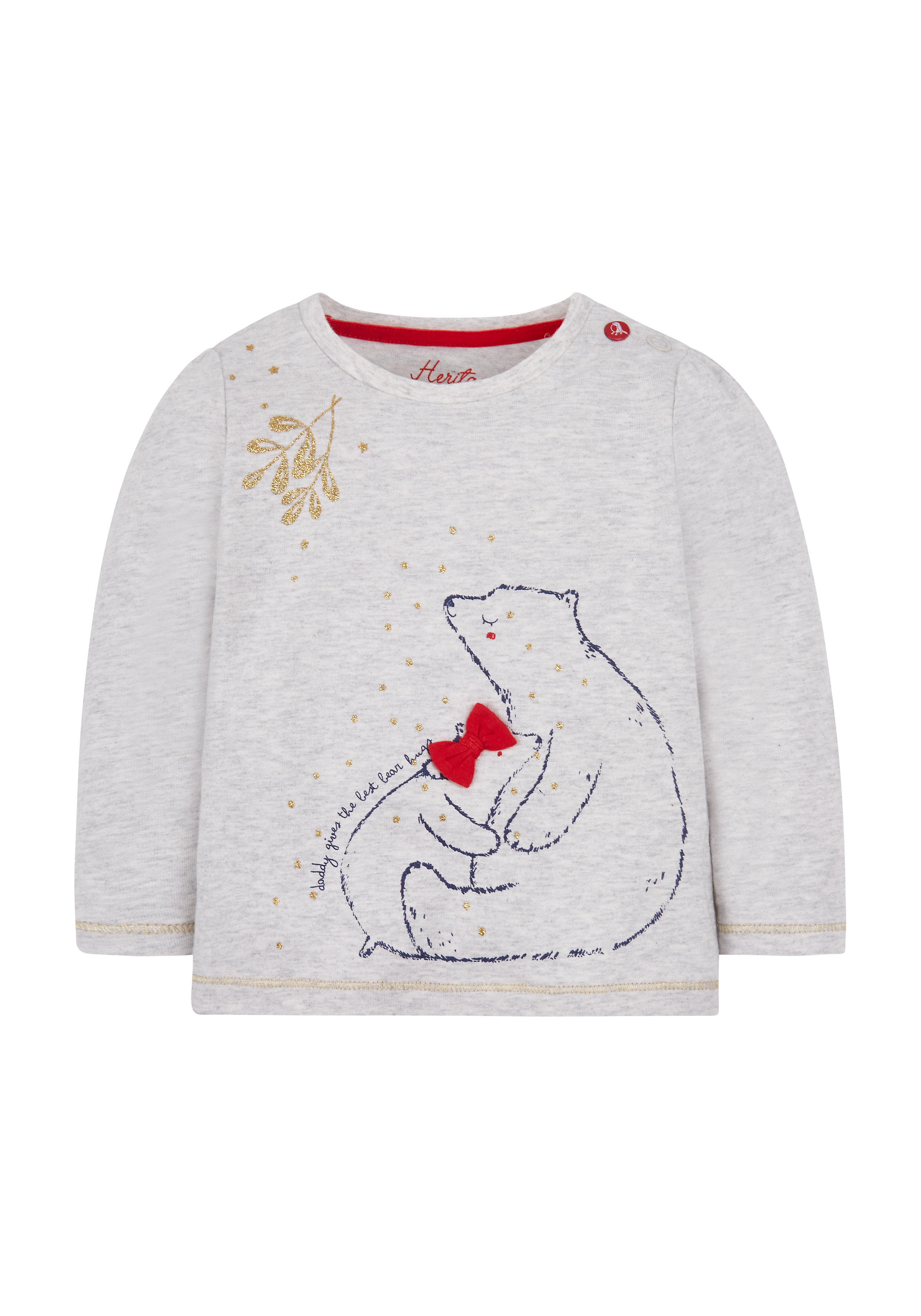 Mothercare | Girls Bear Hugs T-Shirt - Grey