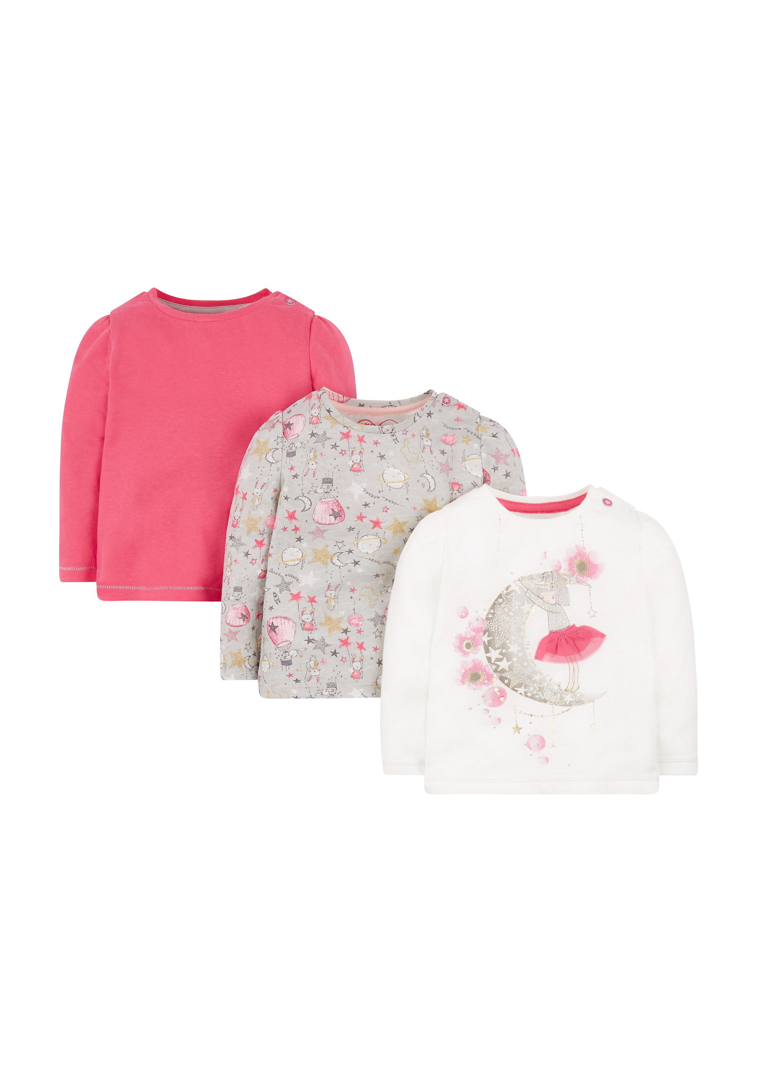 Mothercare   Love You To The Moon And Back T-Shirts - 3 Pack