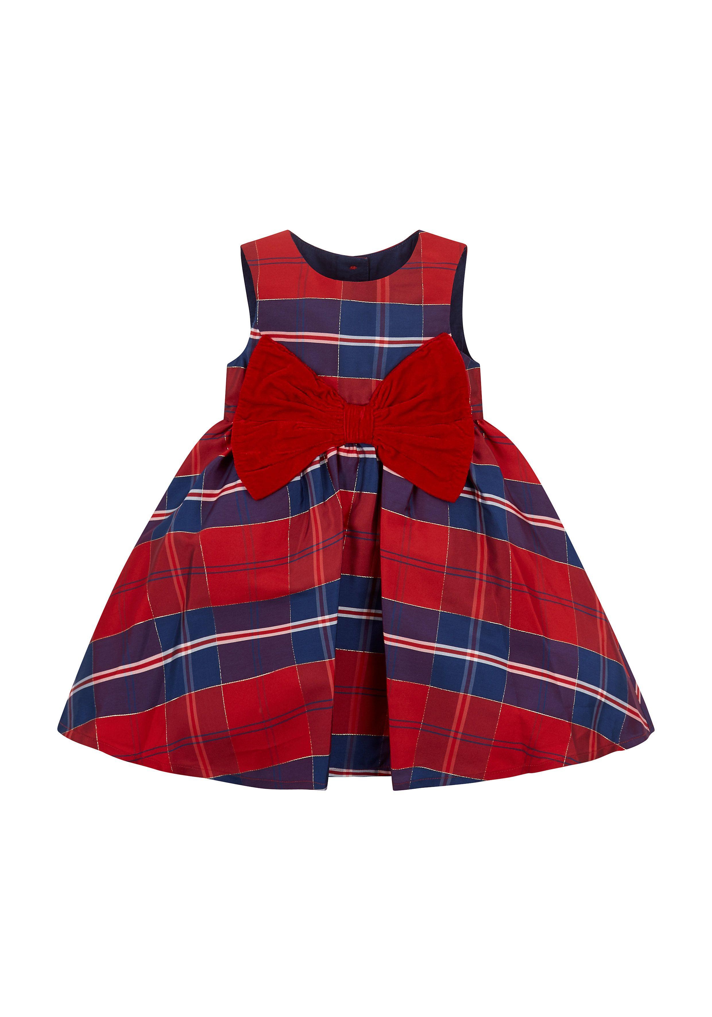 Mothercare | Girls Tartan Party Dress - Red