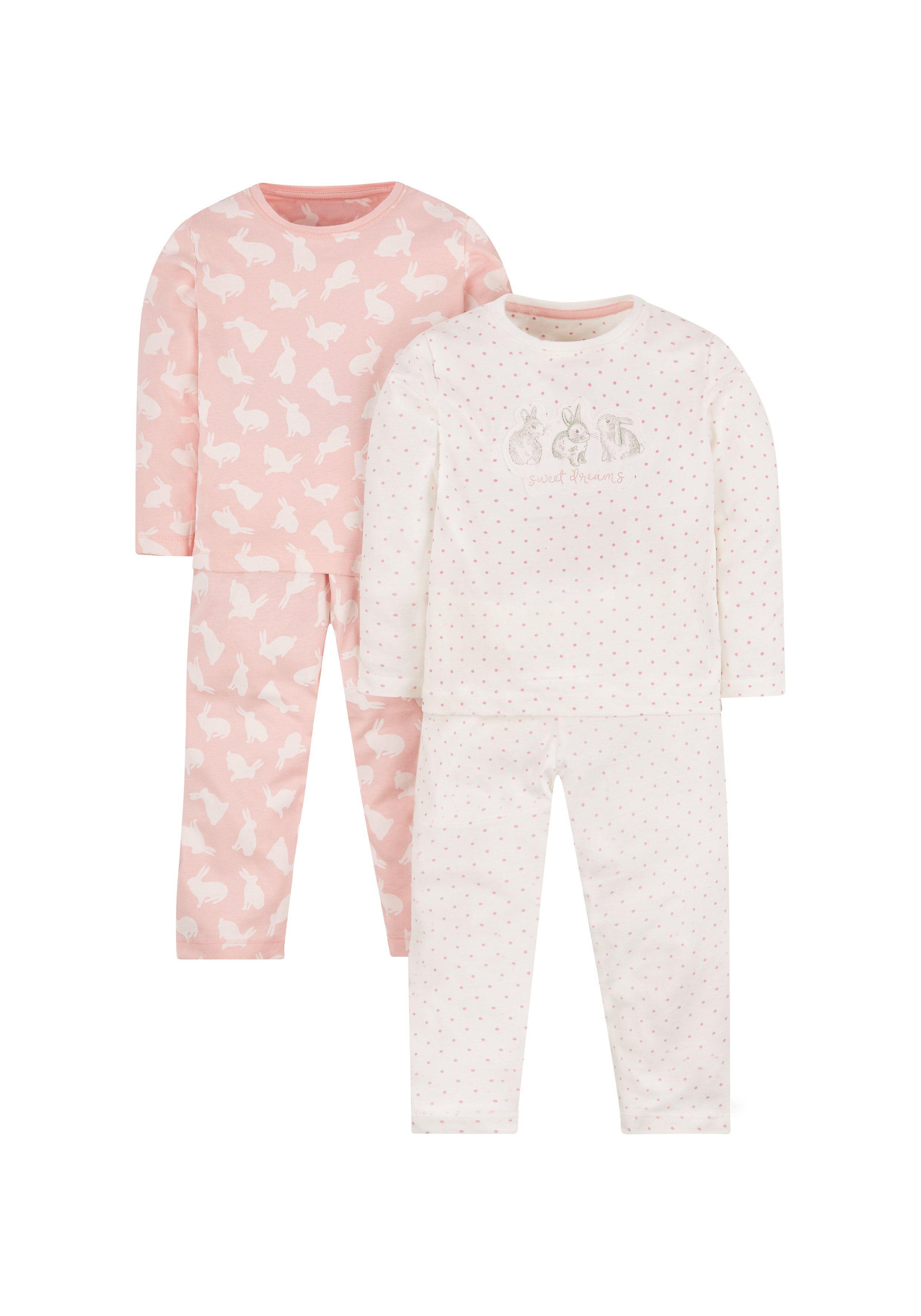 Mothercare | Bunny Pyjamas - 2 Pack