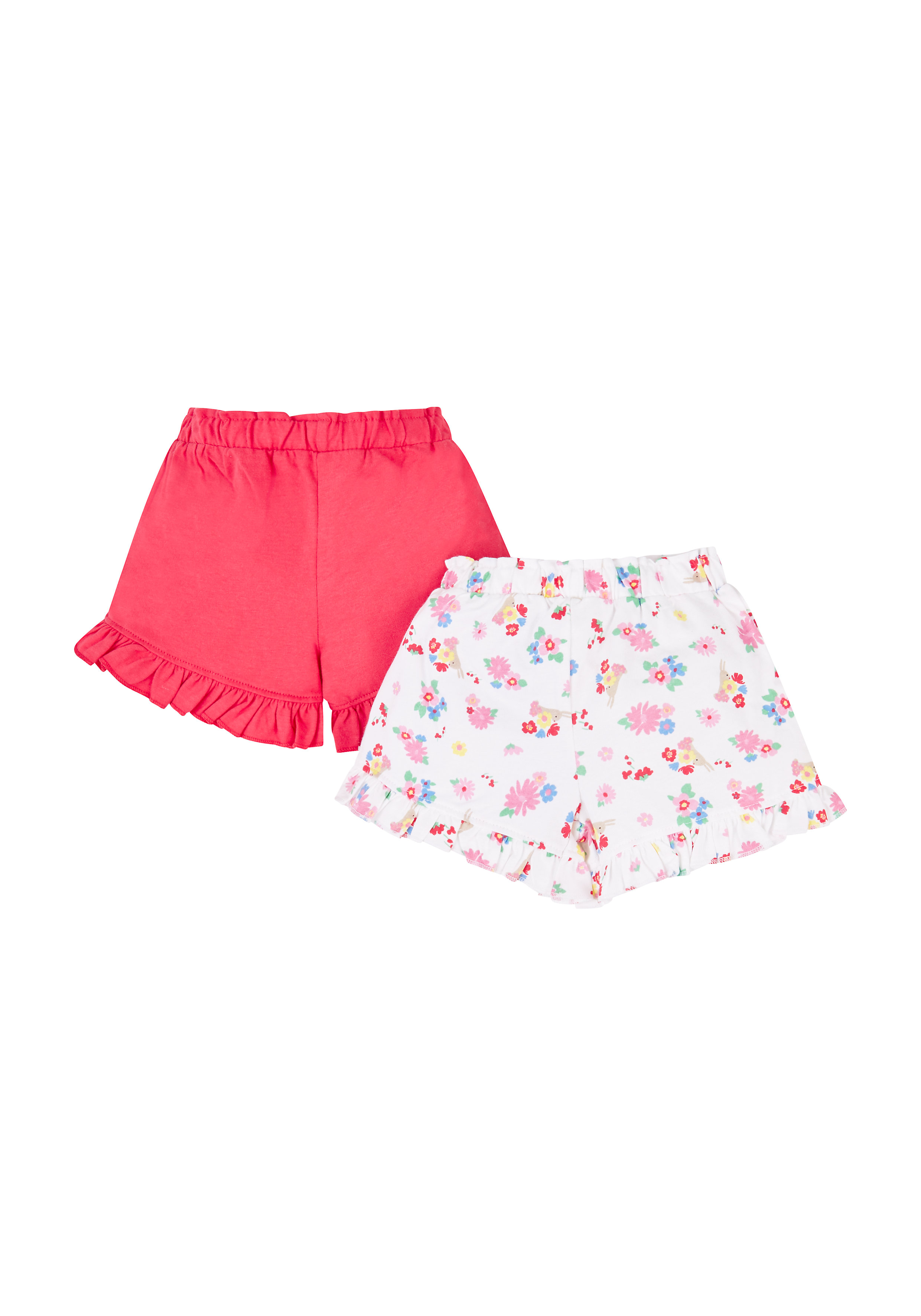 Mothercare | Red and White Printed Shorts - Pack of 2