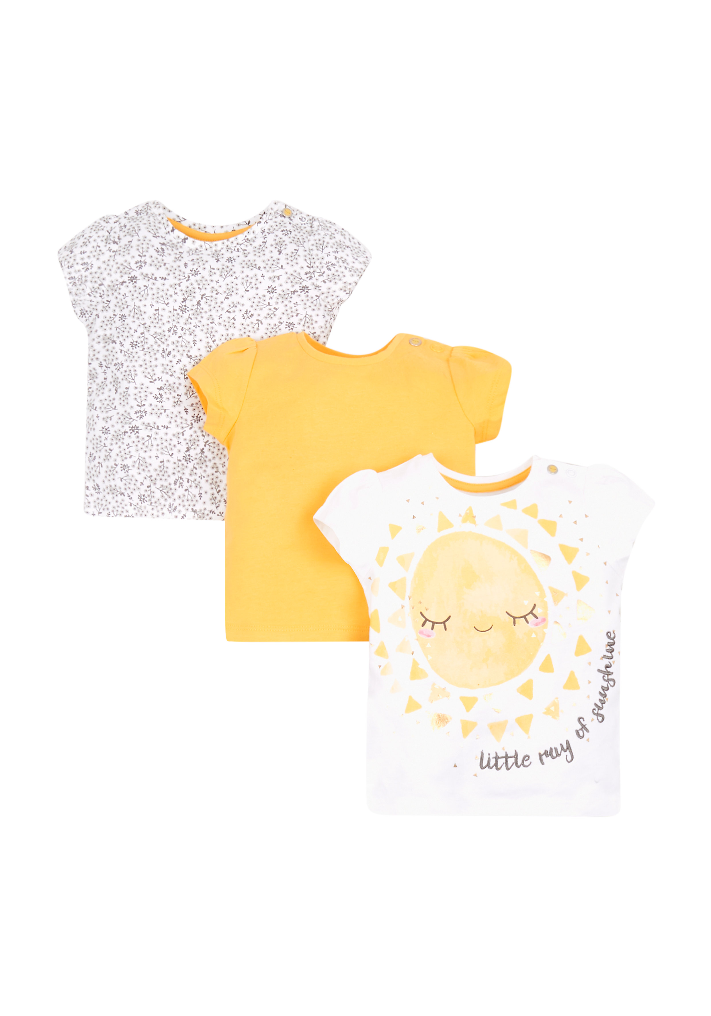 Mothercare | Ray Of Sunshine T-Shirts - 3 Pack