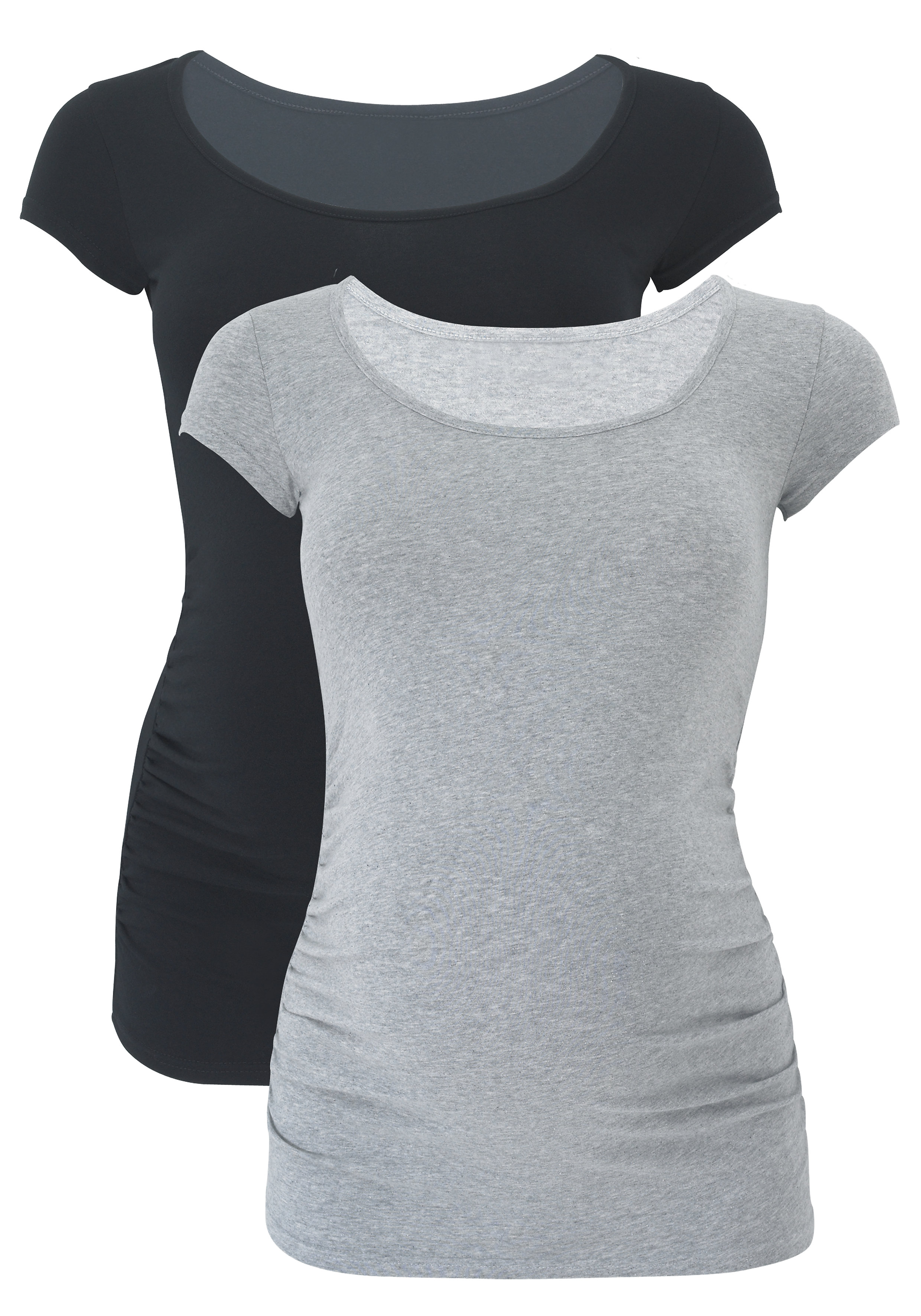 Mothercare | Women Half Sleeves Maternity T-Shirt - Pack Of 2 - Multicolor
