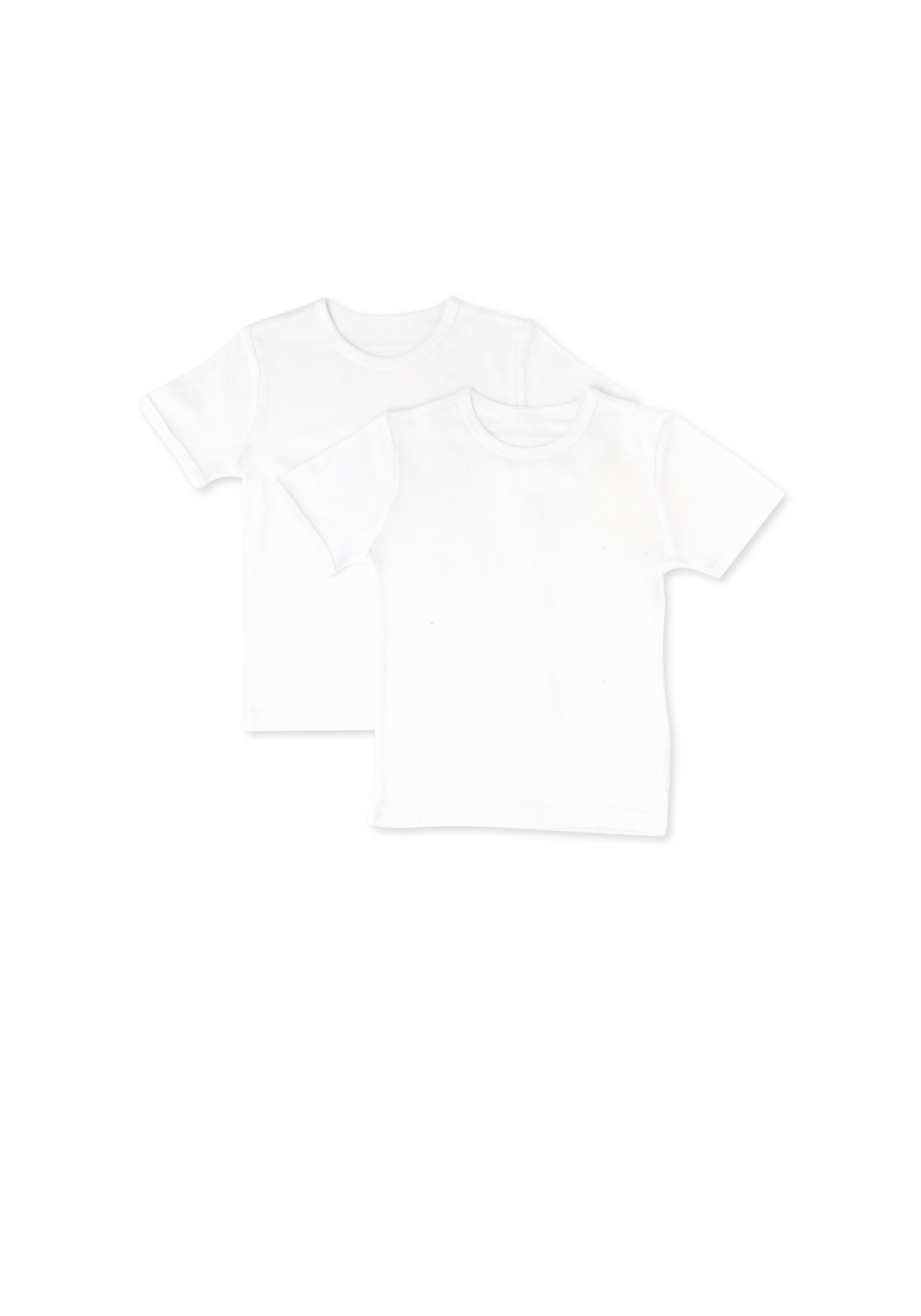 Mothercare   Boys Half Sleeves Thermal T-Shirts - Pack Of 2 - White