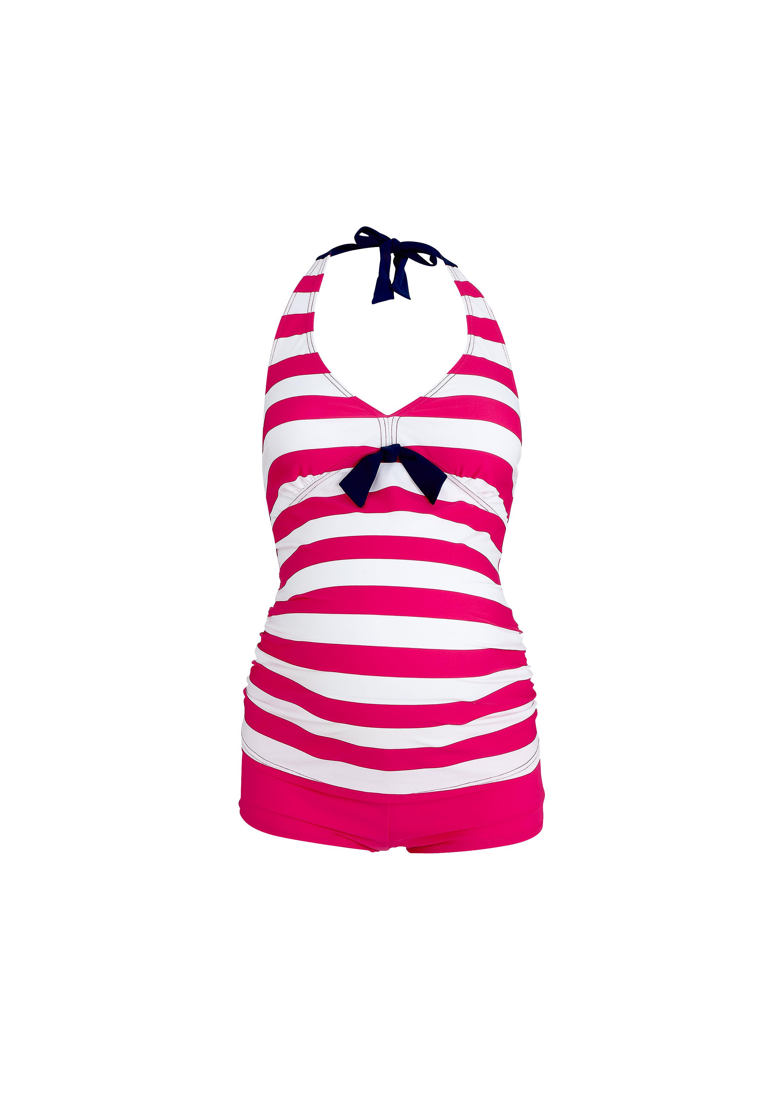 Mothercare | Women Sleeveless Maternity Swimsuit Striped - Pink