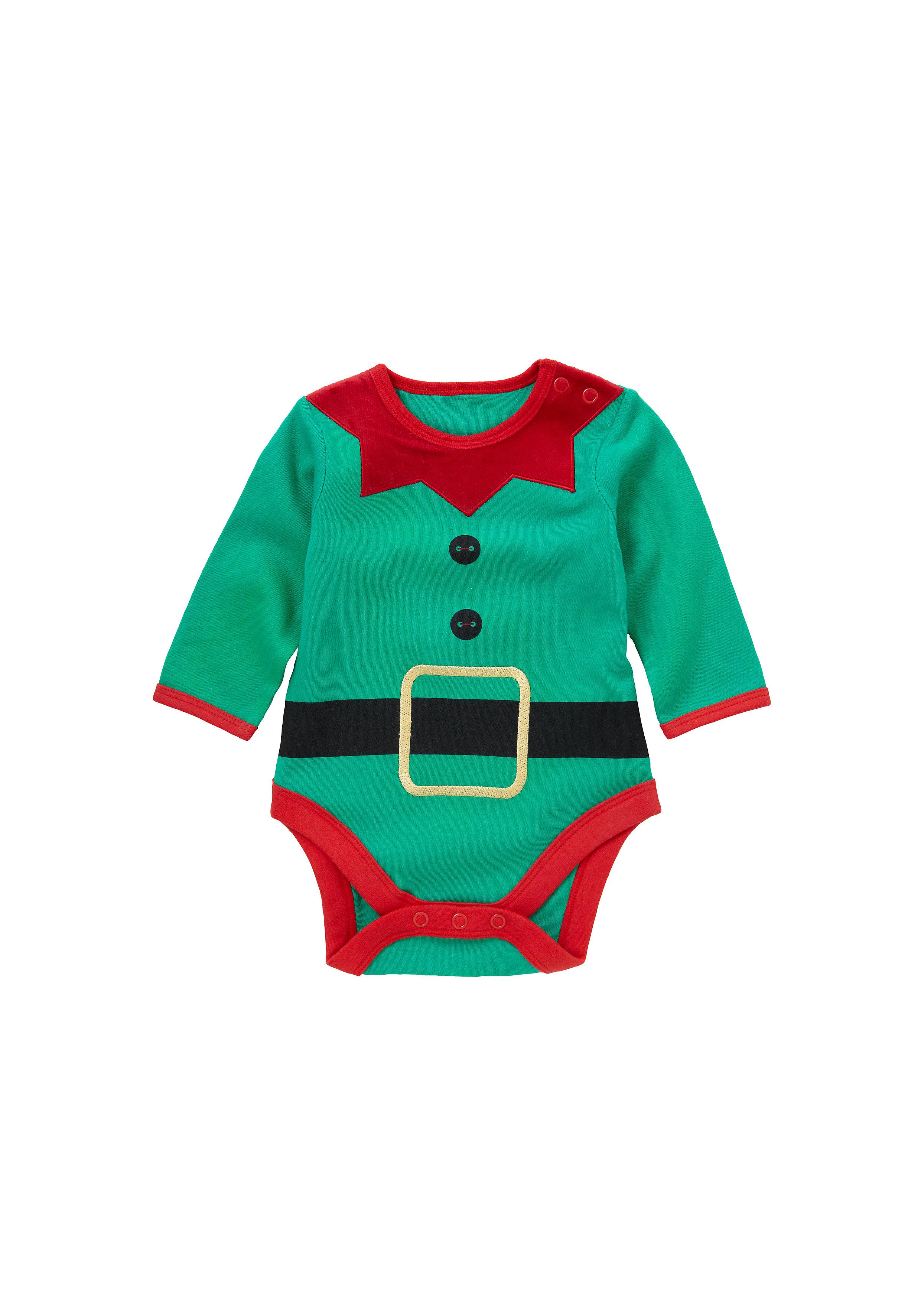 Mothercare | Unisex Elf Bodysuit - Green