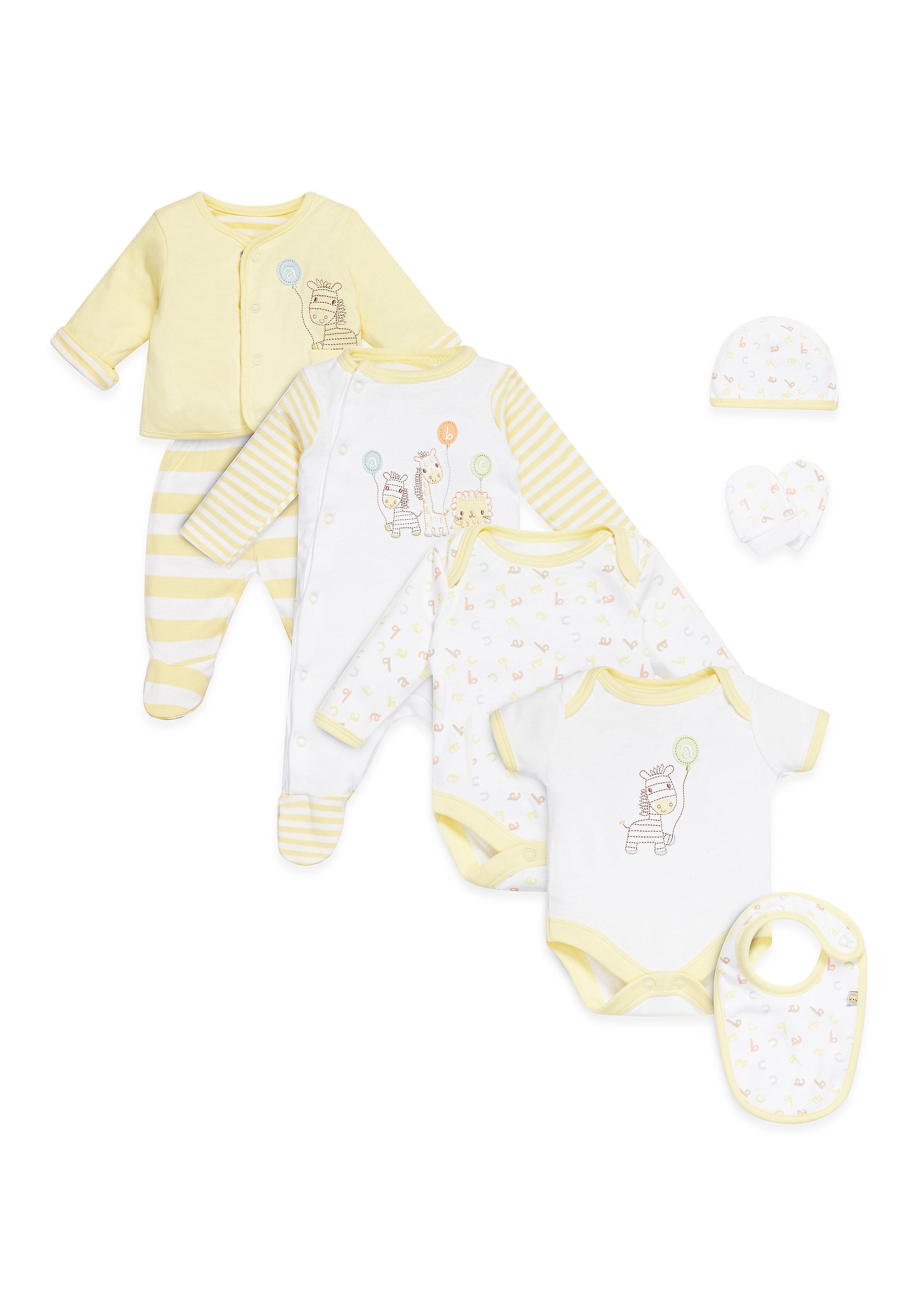 Mothercare | Unisex 8 Piece Set Printed - Yellow