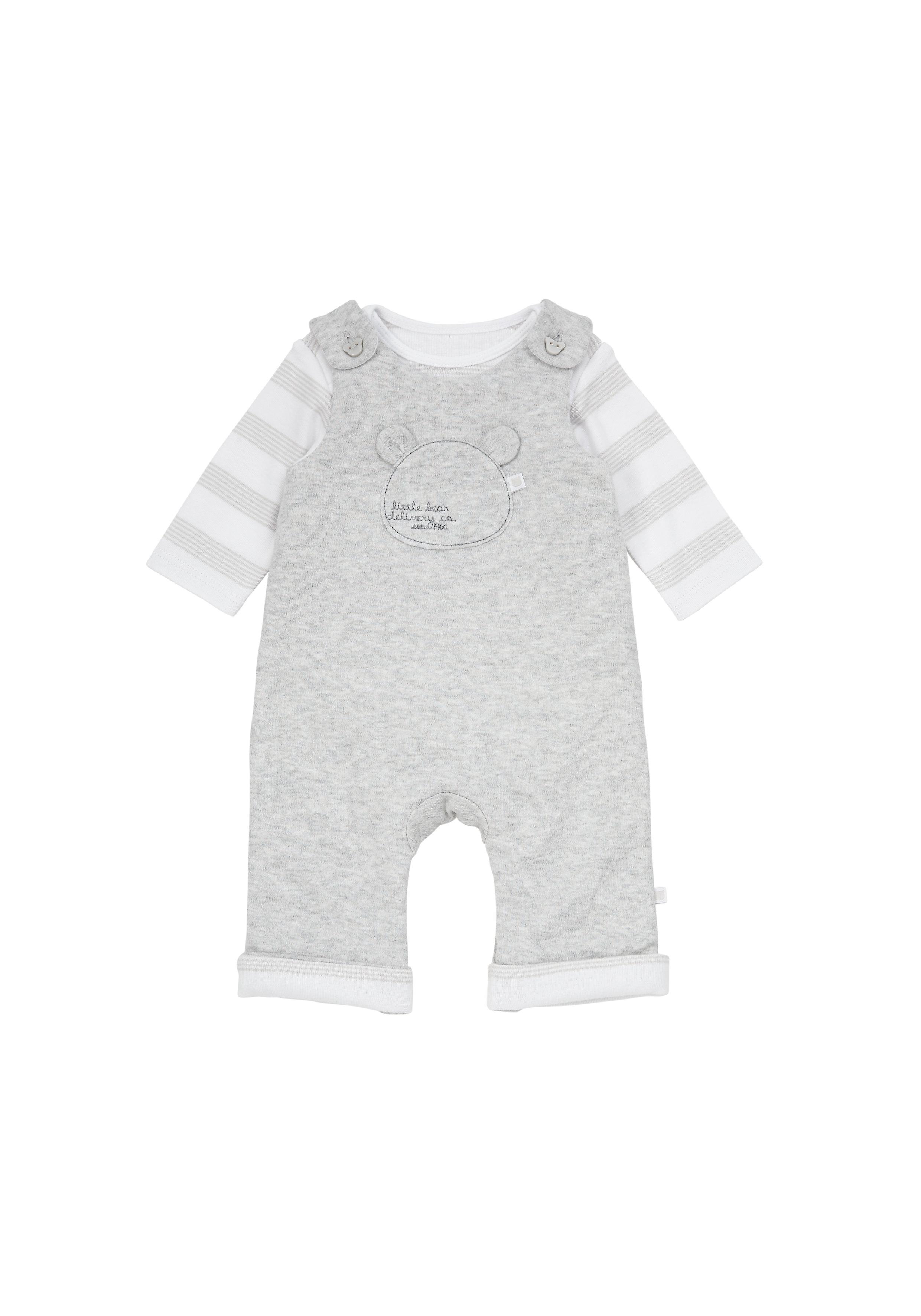 Mothercare | Unisex Dungaree Set - Grey