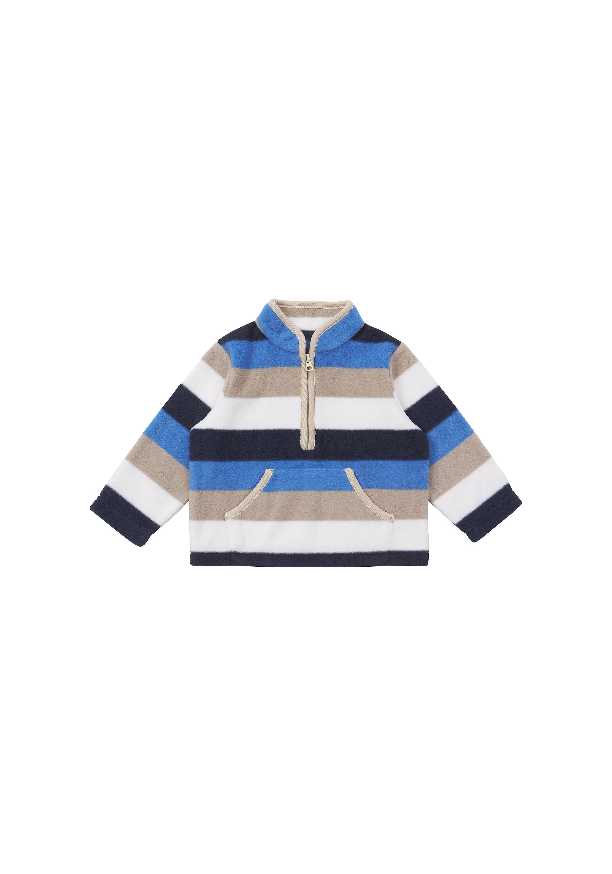 Mothercare | Boys Full Sleeves Fleece Jacket Striped - Multicolor