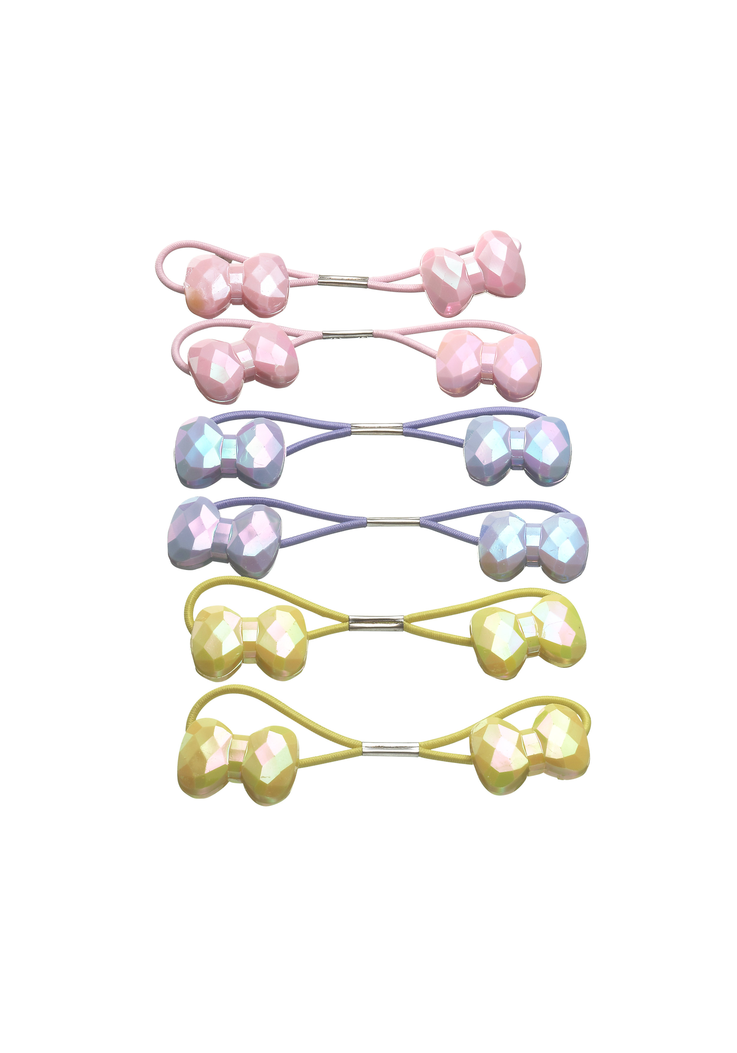 Mothercare   Girls Hair Ties - Pack Of 6 - Multicolor