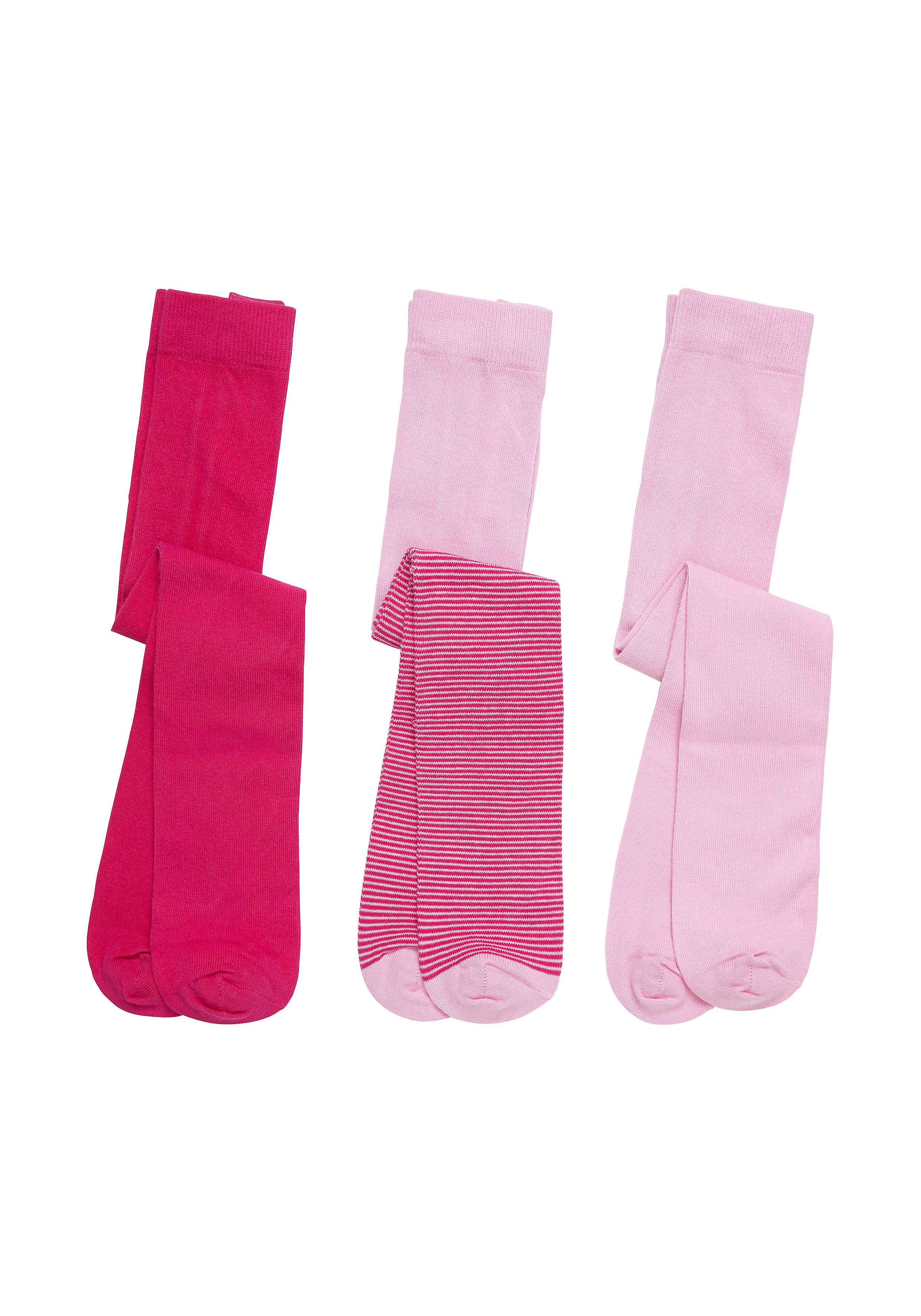 Mothercare   Girls Pink, Fuchsia & Stripe Tights