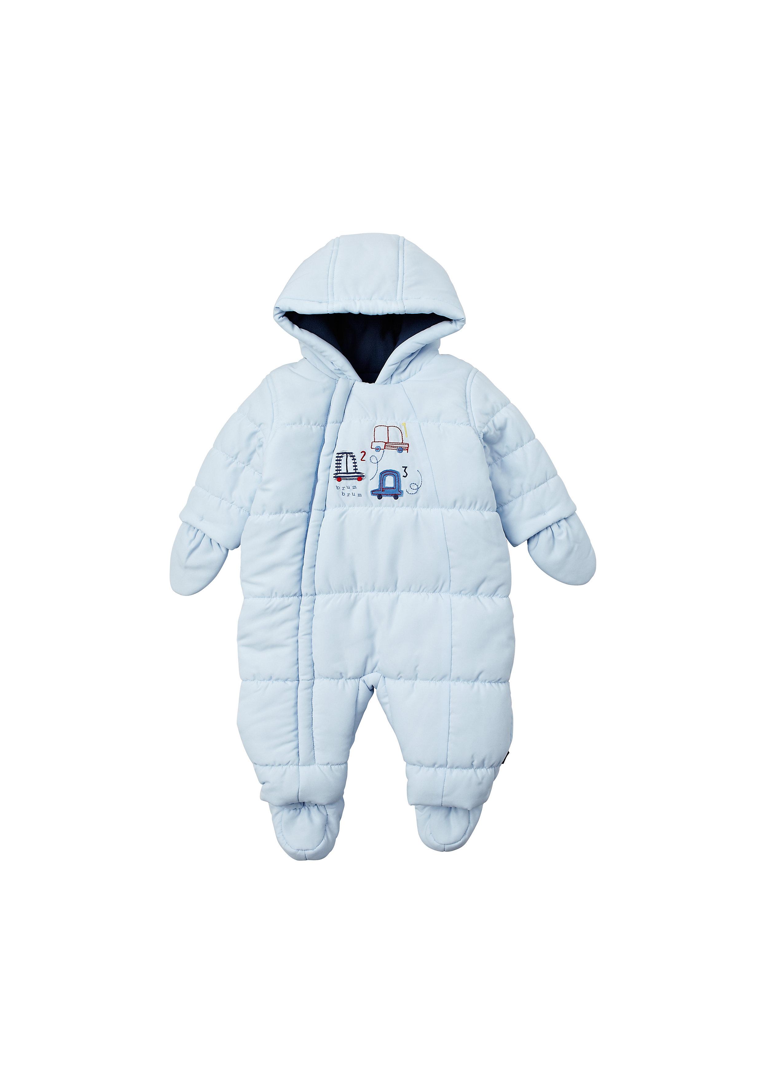 Mothercare | Boys Full Sleeves Snowsuit Padded - Blue