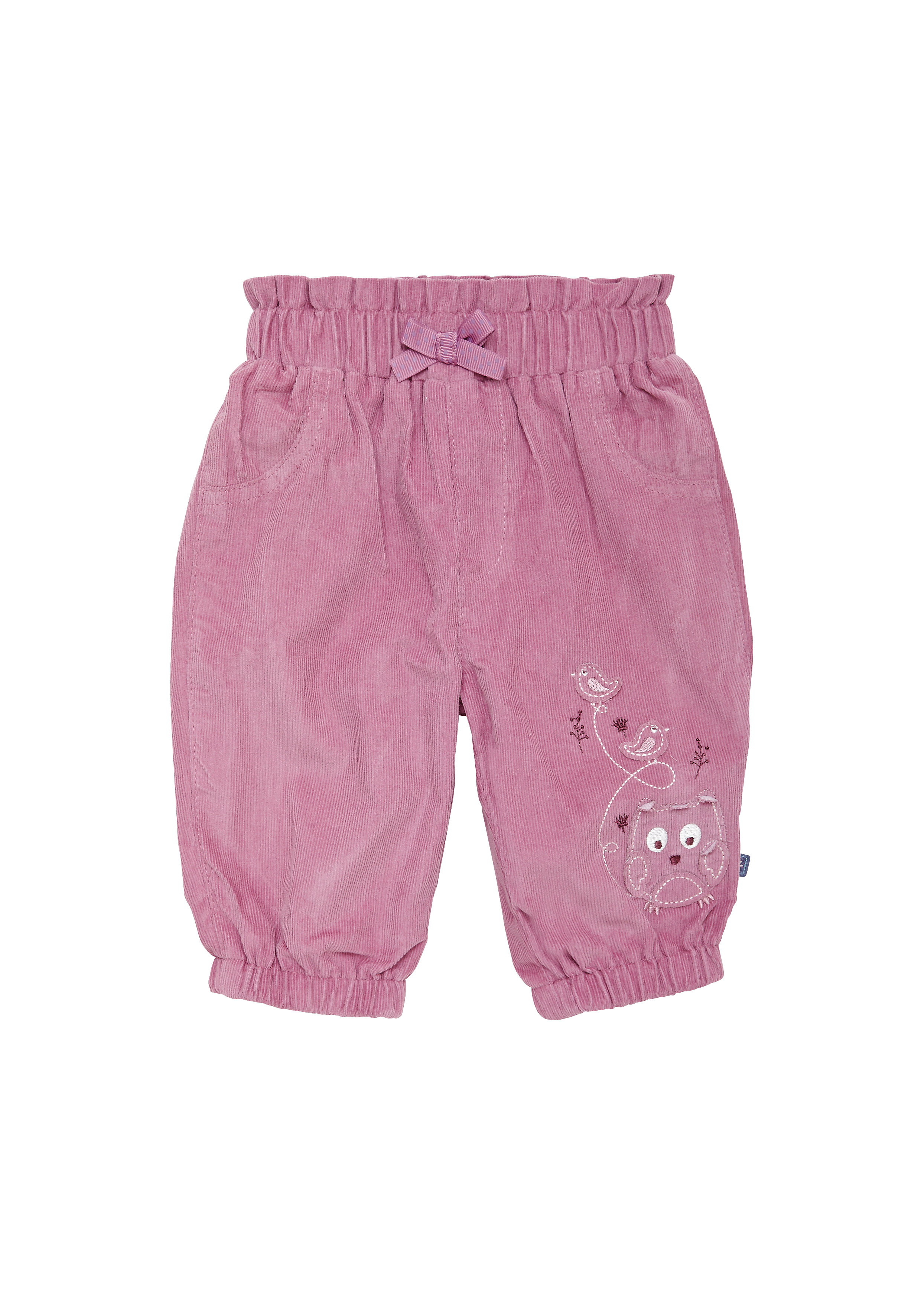 Mothercare | Girls Cord Trousers Embroidered - Pink