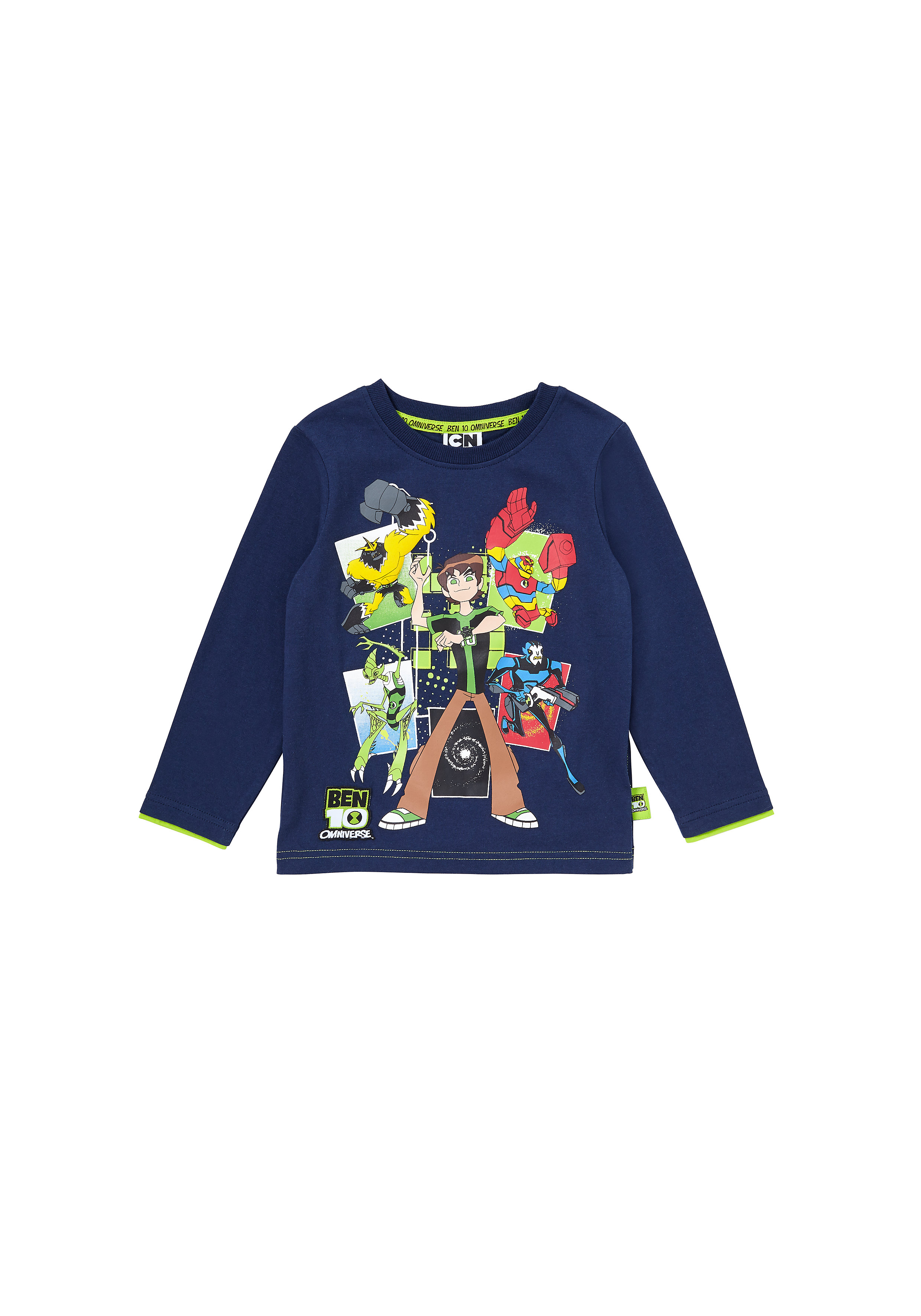 Mothercare | Boys Full Sleeves T-Shirt Ben 10 Print - Navy
